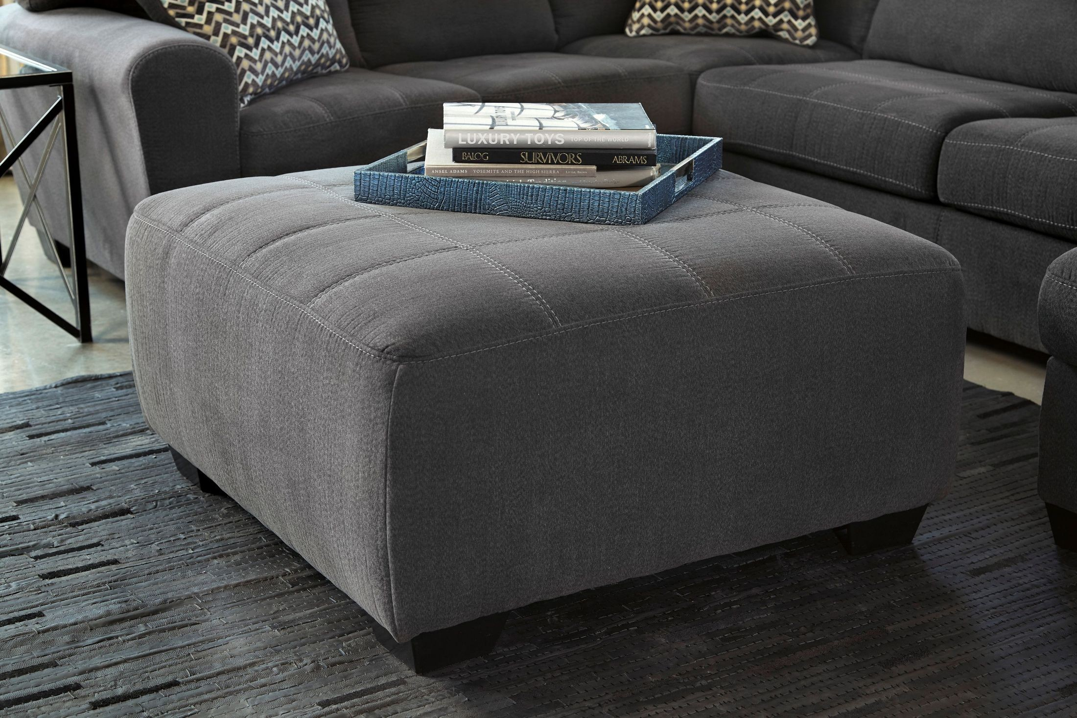 Sorenton Slate Oversized Accent Ottoman From Ashley