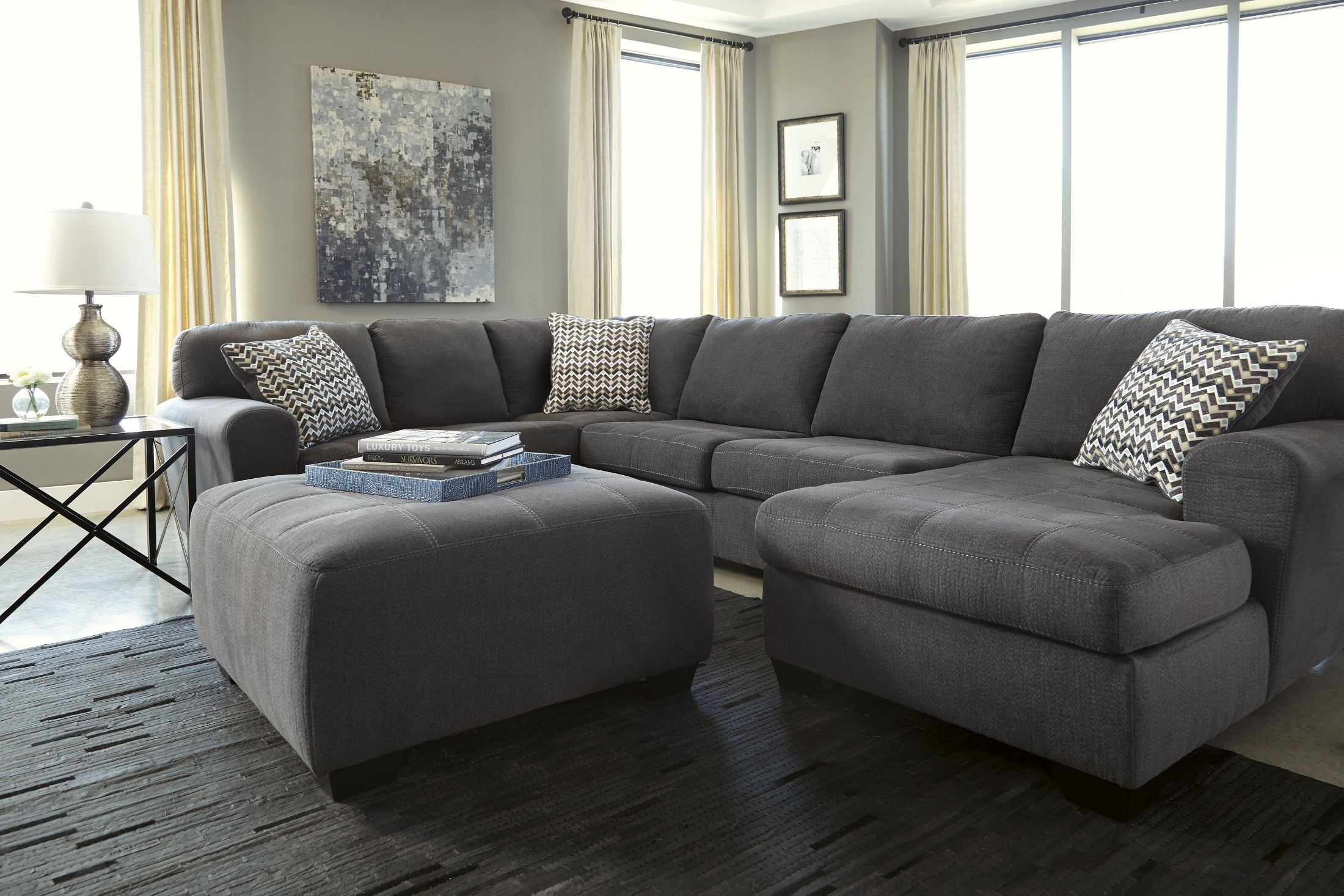 Sorenton Slate Raf Sectional From Ashley 2860017