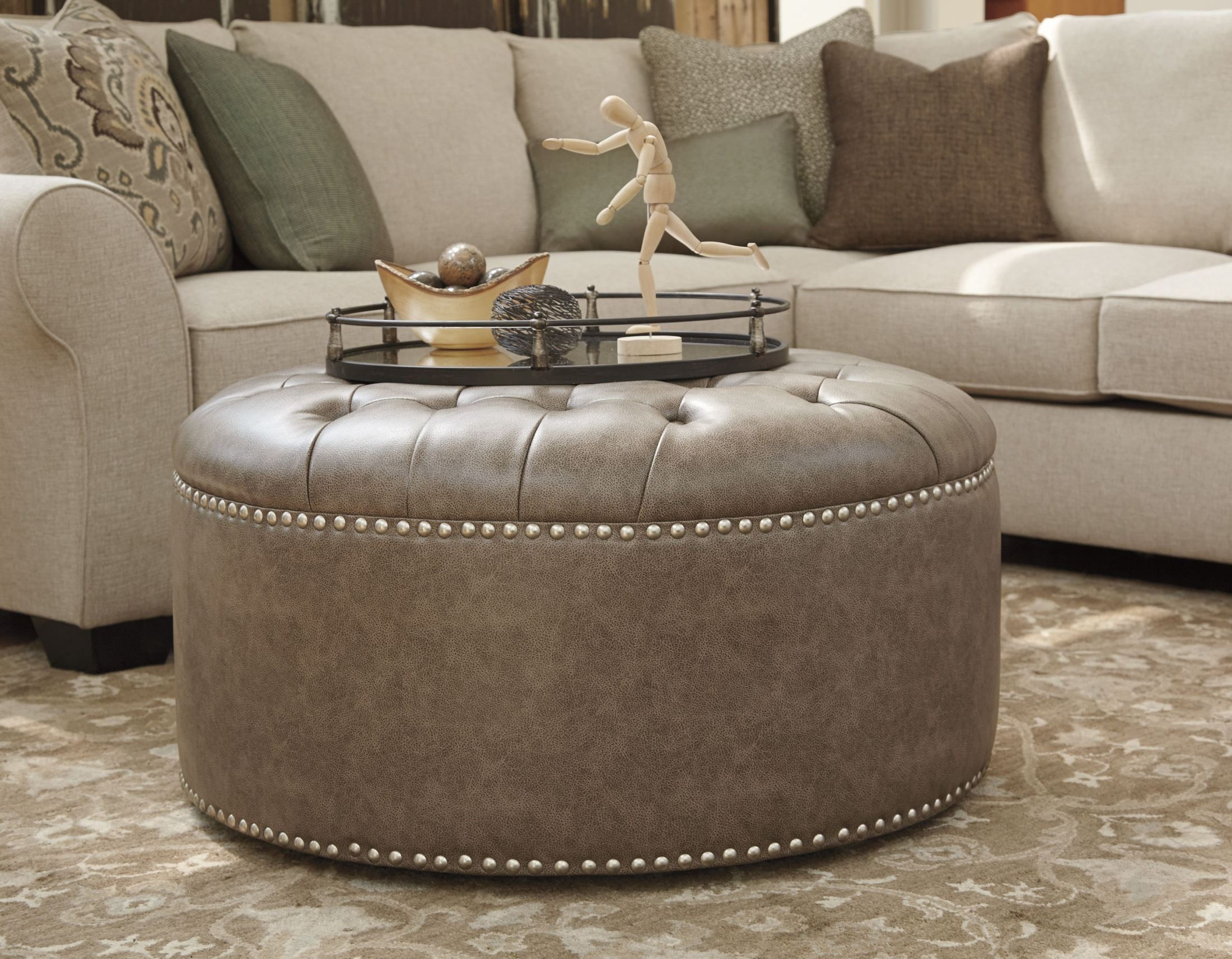 Wilcot Gray Oversized Accent Ottoman From Ashley 2870108 Coleman Furniture