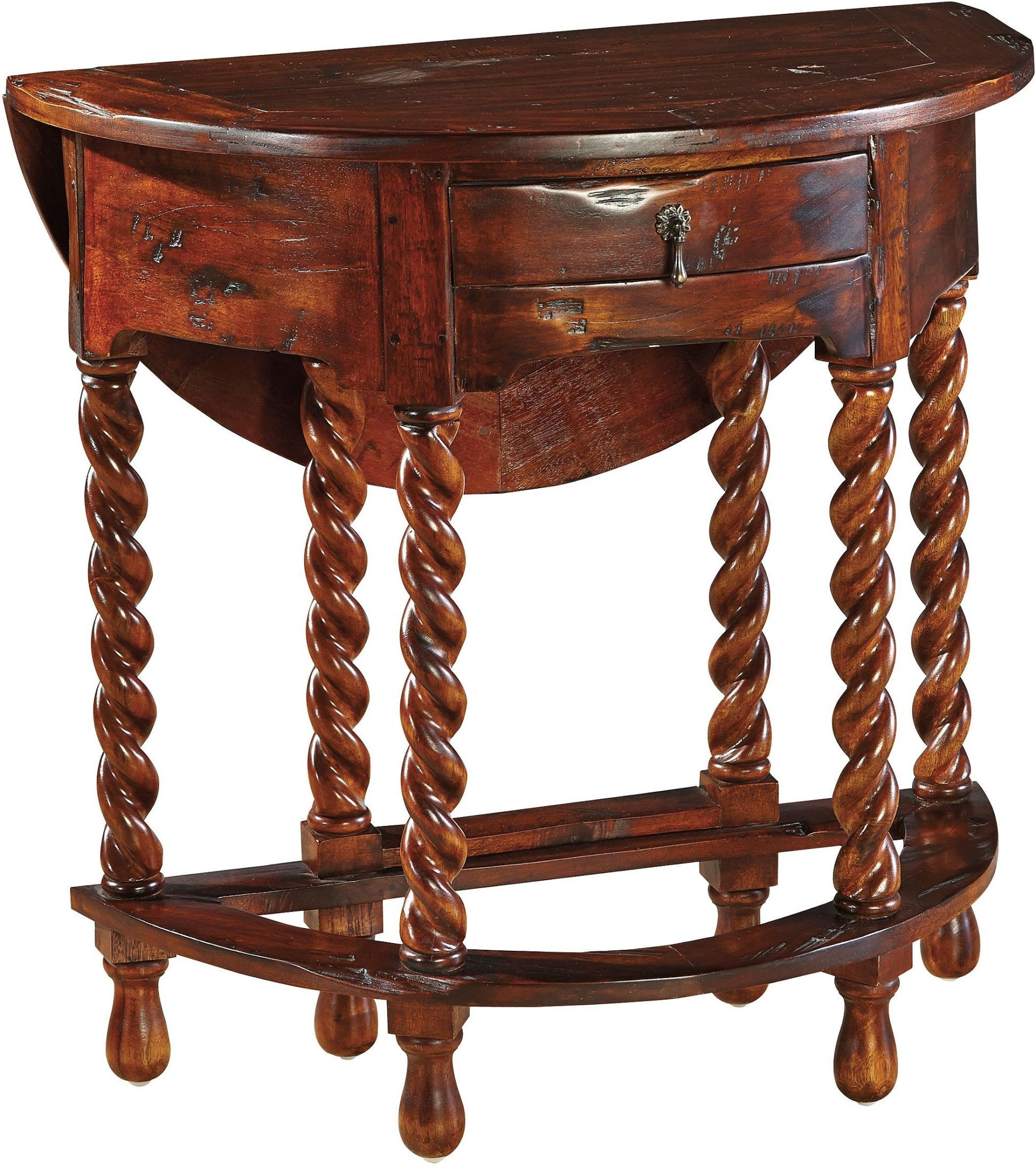 Gateleg Brown Barley Twist Plank Top Extendable Table From Furniture Classics Coleman Furniture