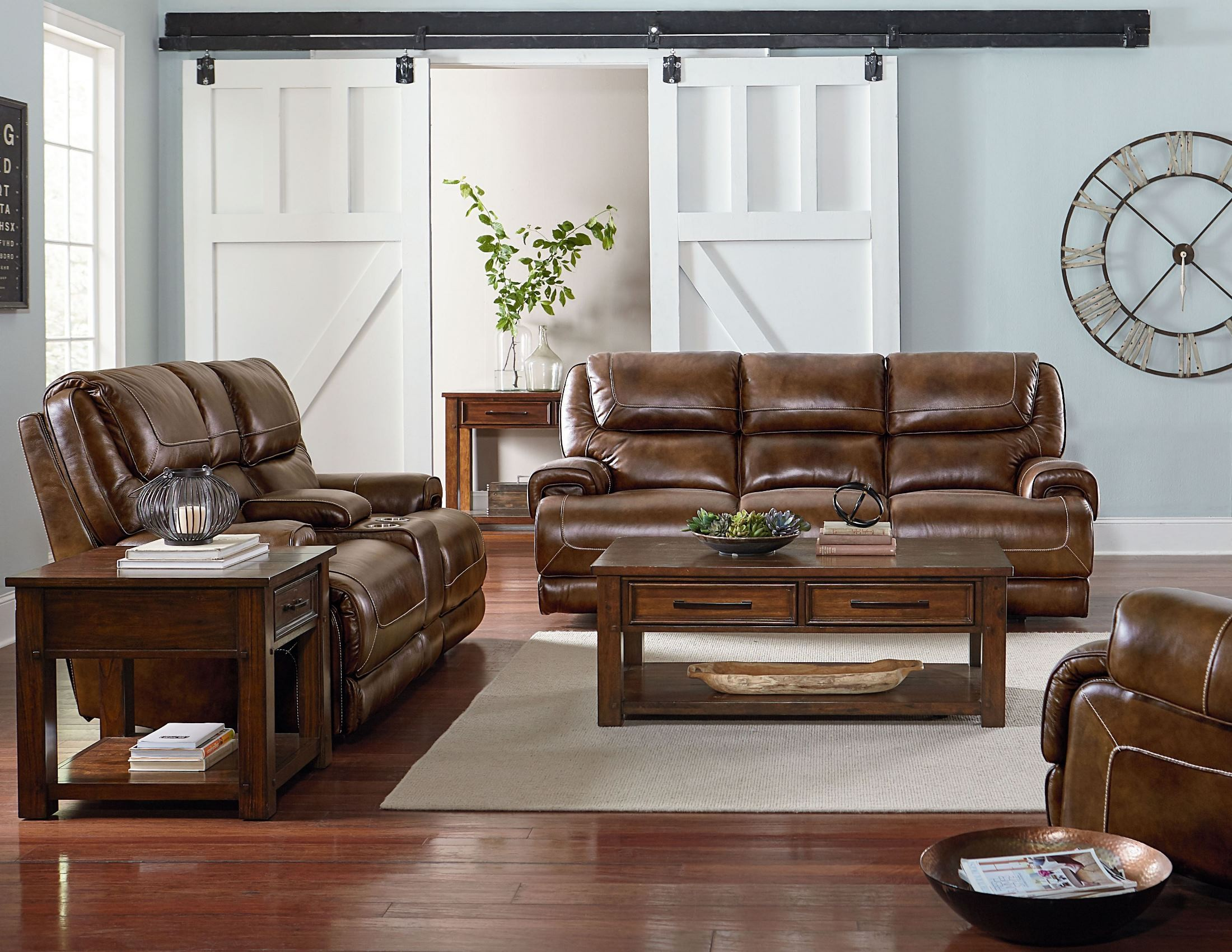Cameron Golden Tobacco Brown Occasional Table Set from Standard