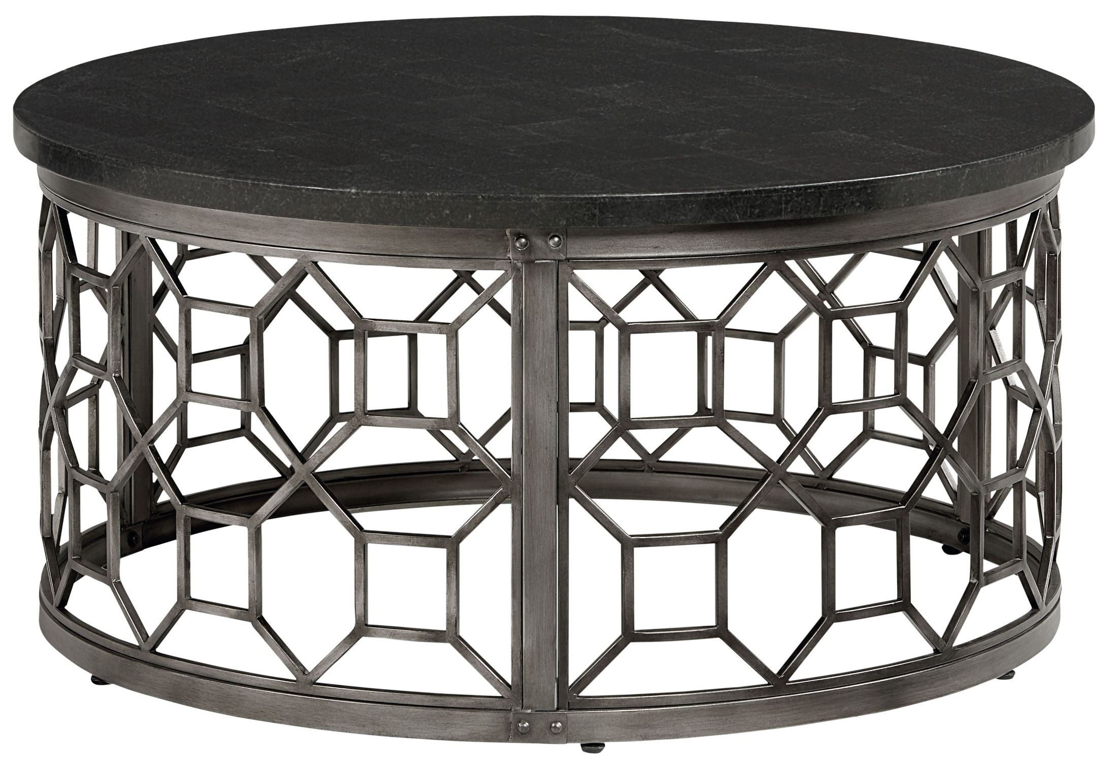 equinox round stone top cocktail table 28921 2028921 standard furniture. Black Bedroom Furniture Sets. Home Design Ideas