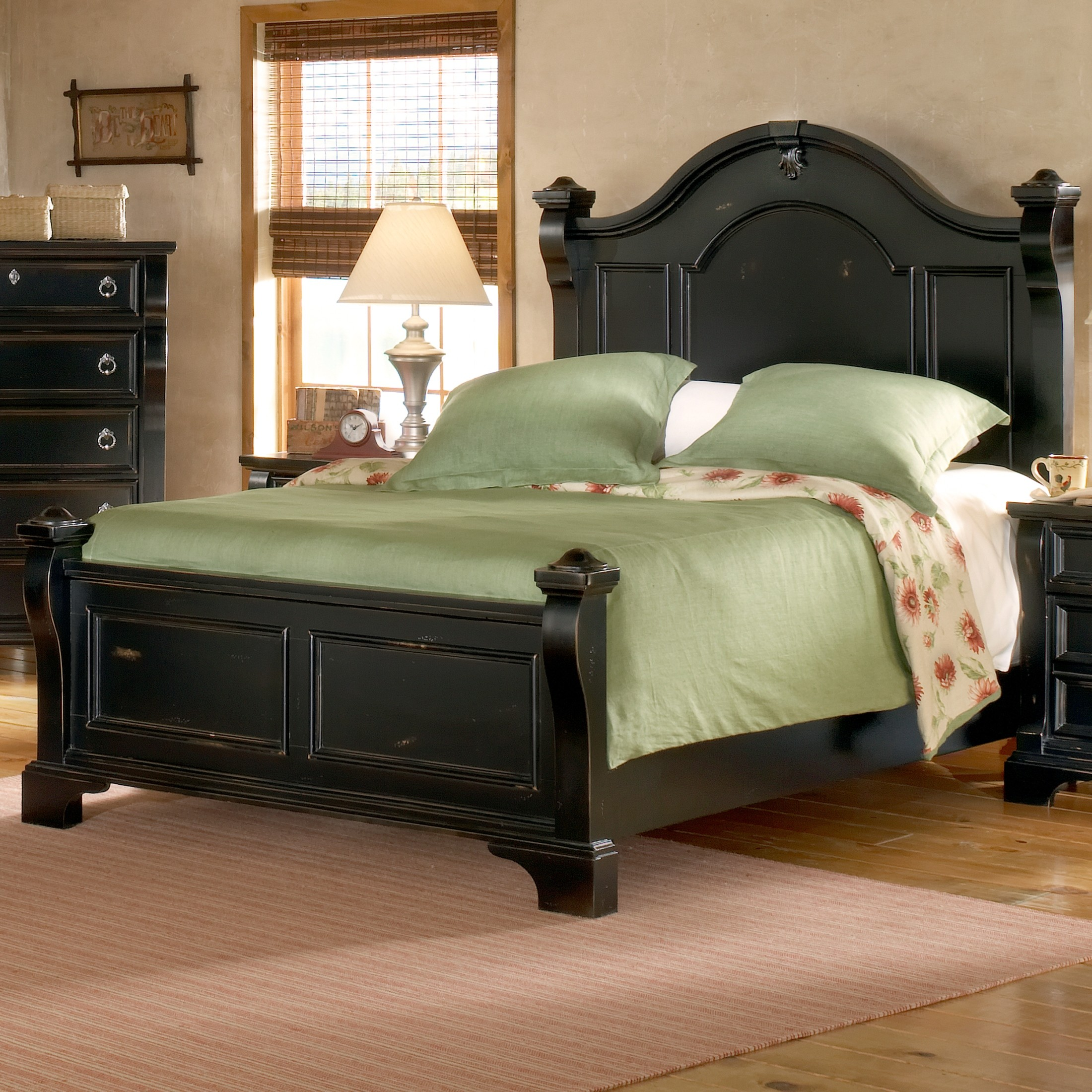 Heirloom Black King Poster Bed From American Woodcrafters