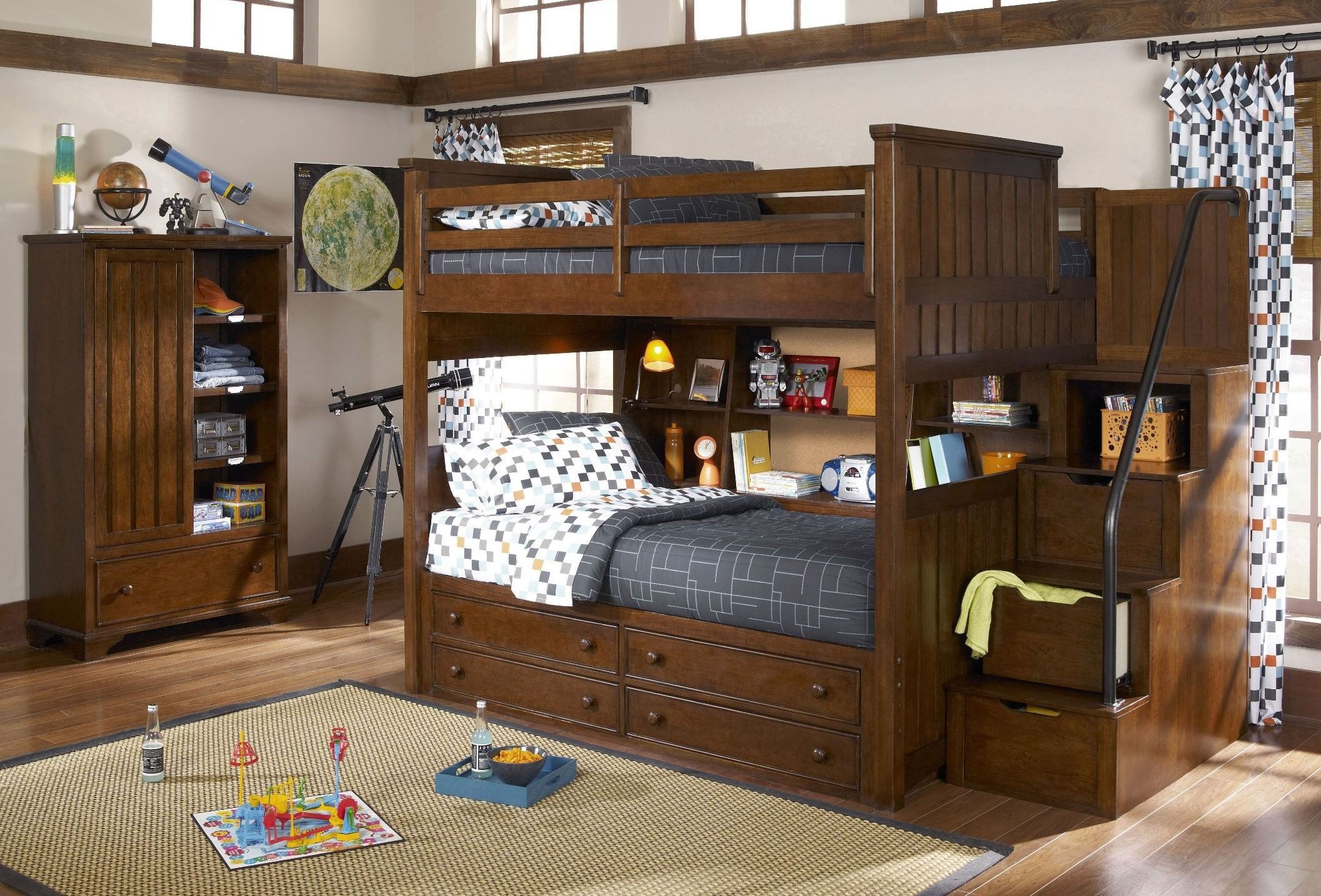 Dawsons ridge youth storage steps bunk bedroom set from legacy kids coleman furniture for Youth storage bedroom furniture