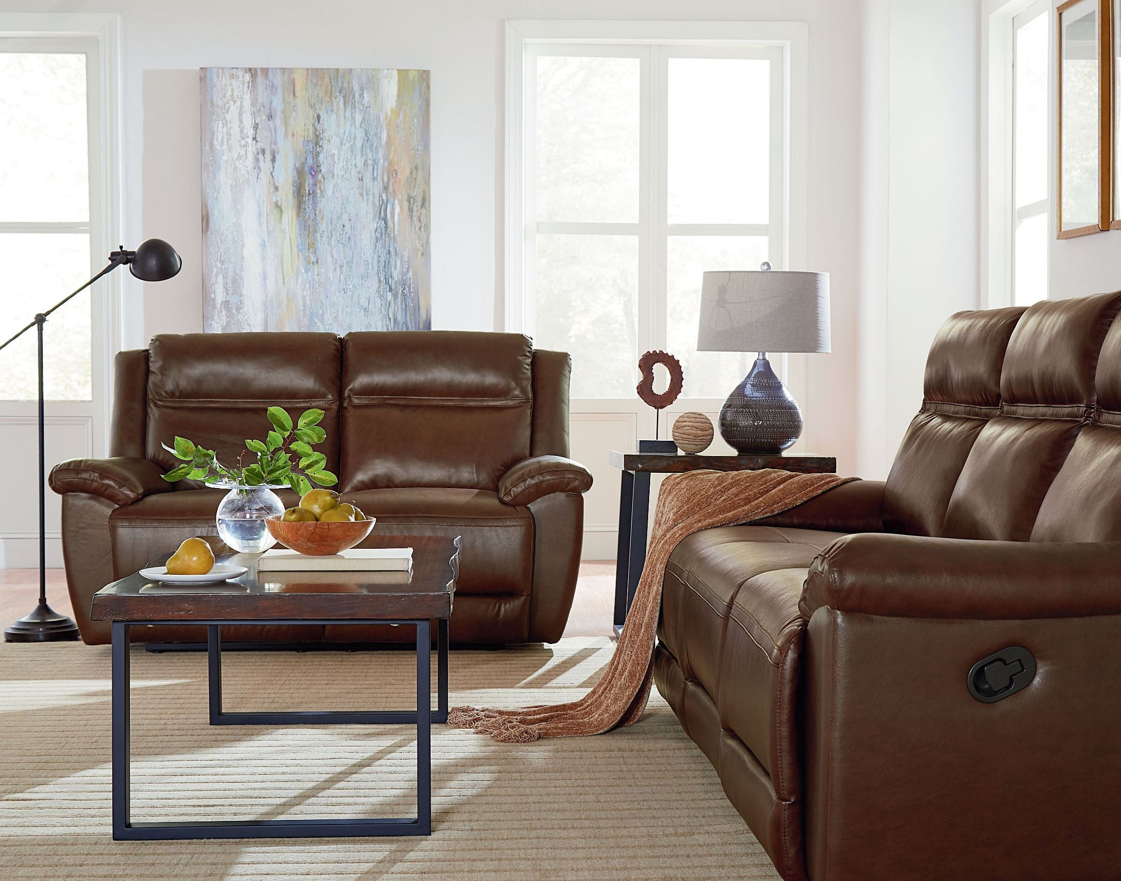 brown living room sets wyatt brown reclining living room set from standard 12067