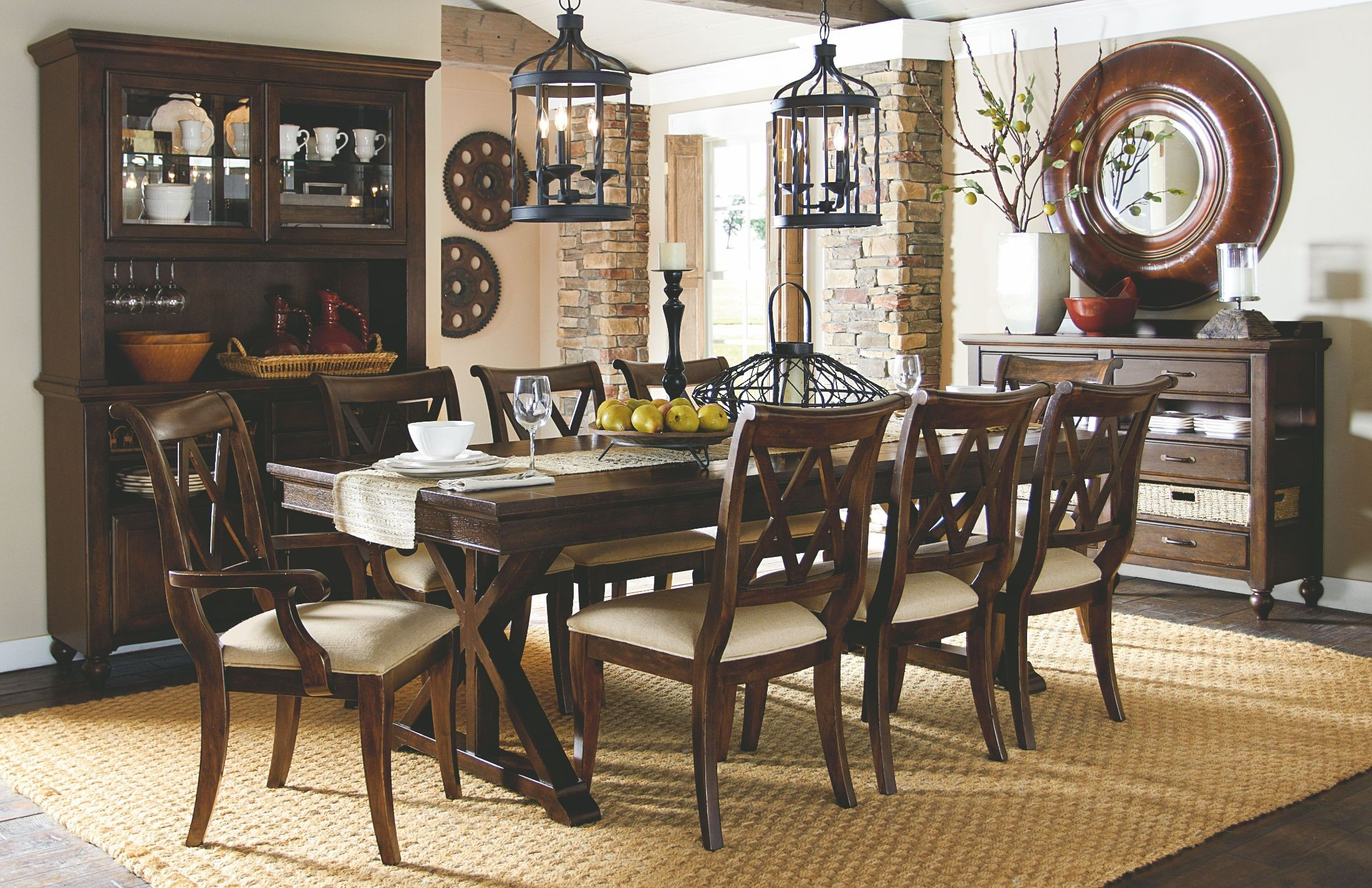 Thatcher Extendable Trestle Dining Room Set From Legacy Classic