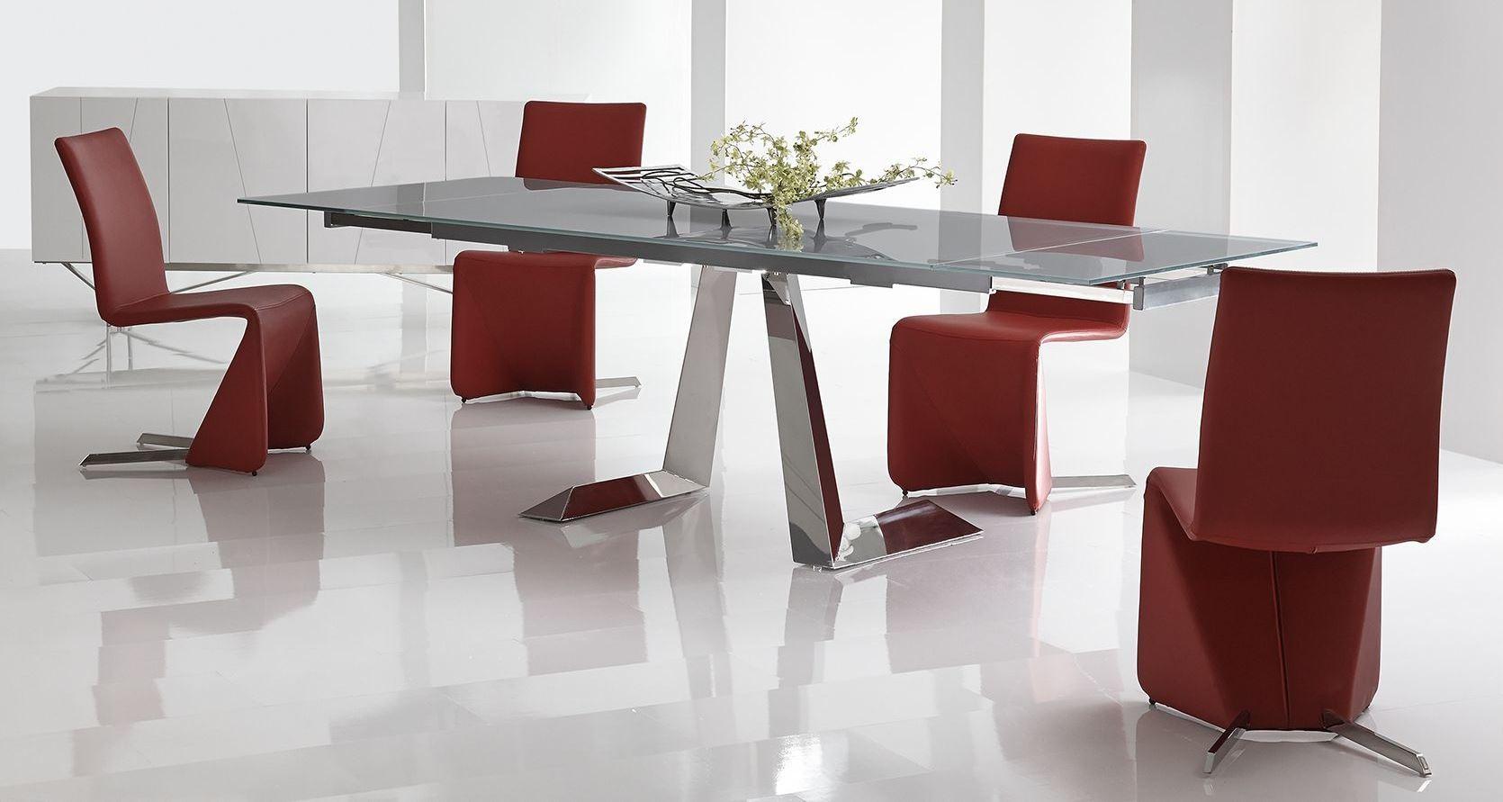 Tessa Grey Extendable Rectangular Dining Room Set from  : 2btessatbbernicech from colemanfurniture.com size 1670 x 891 jpeg 151kB