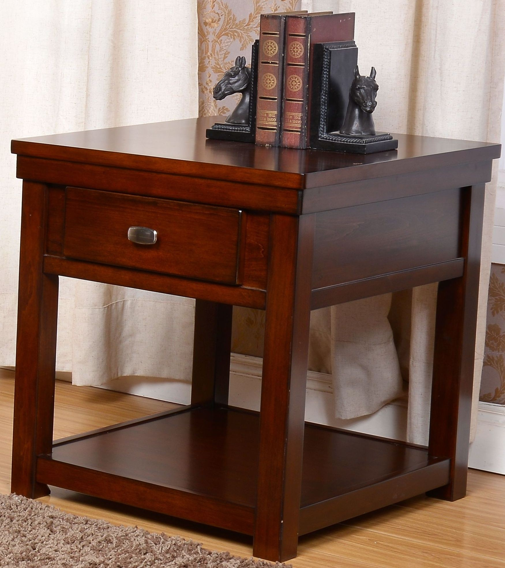 Sale Furniture Houston: Houston Burnished Cherry End Table From New Classic