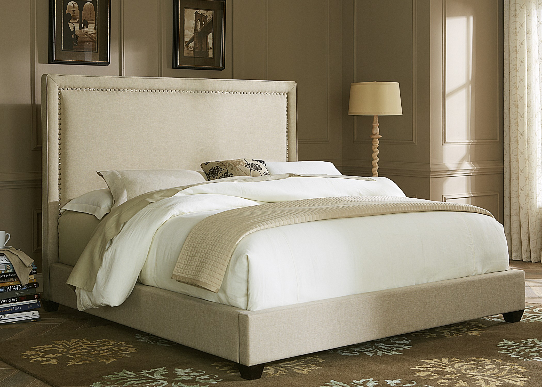 Upholstered Queen Panel Bed From Liberty 100 Br Qpb