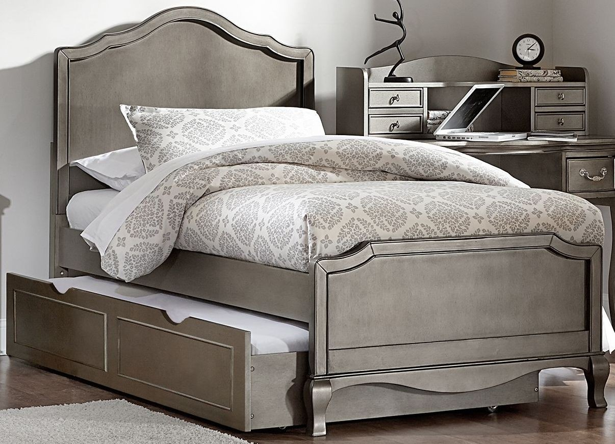 Kensington Antique Silver Charlotte Twin Panel Bed With