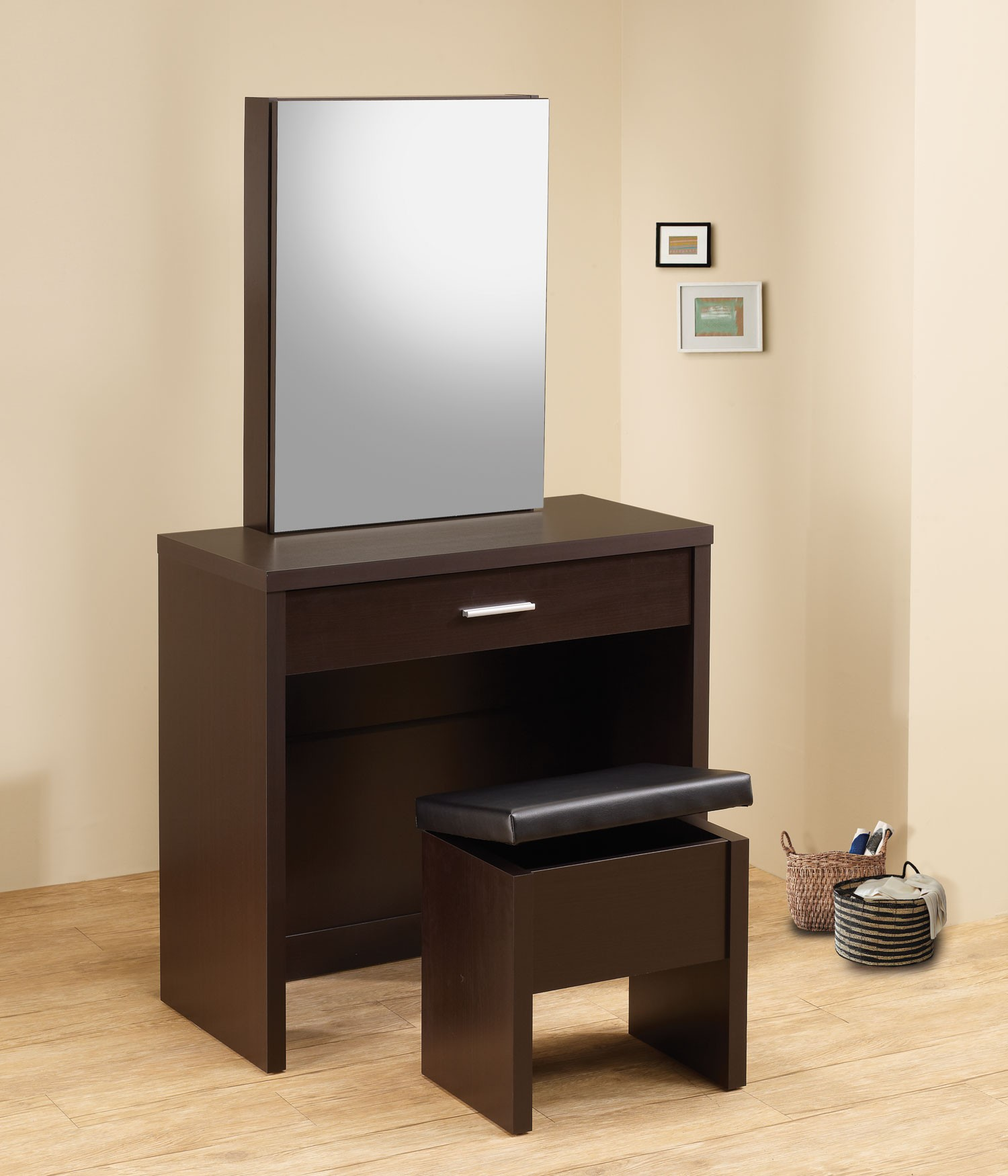 300289 Cappuccino 2 Piece Vanity Set From Coaster (300289) | Coleman  Furniture