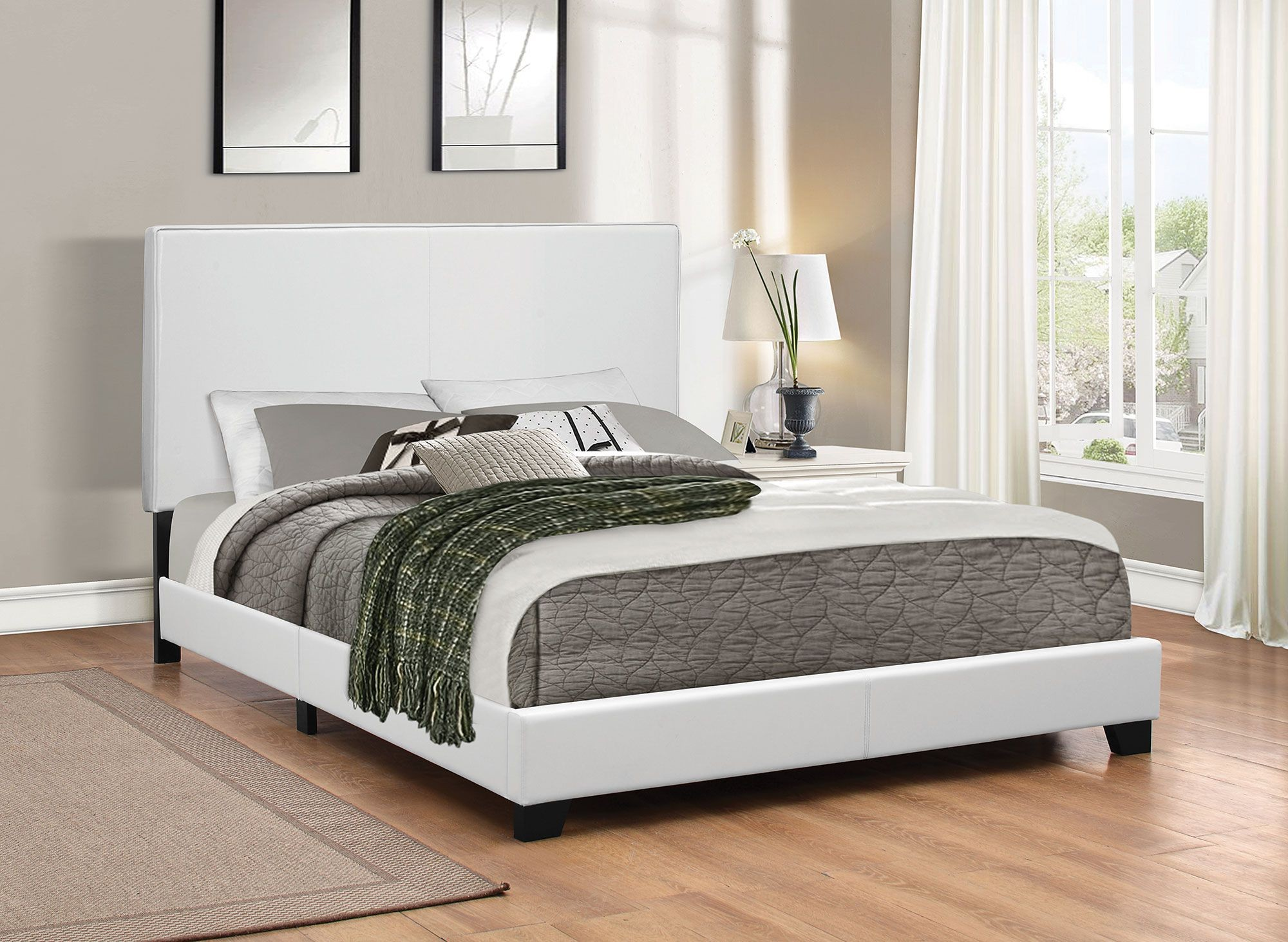 Mauve white queen platform bed from coaster coleman - White queen platform bedroom set ...