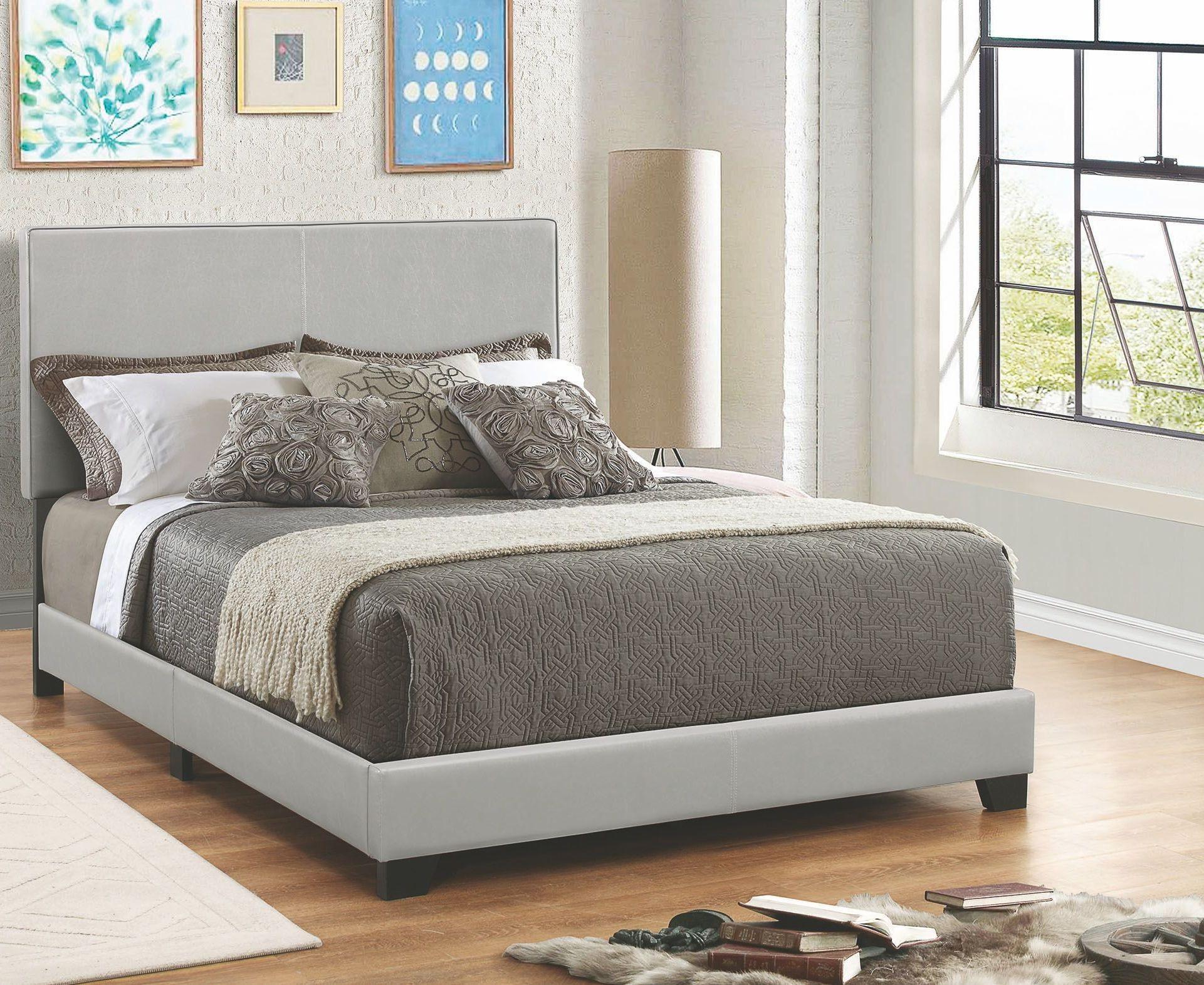 Dorian Grey Queen Upholstered Platform Bed From Coaster