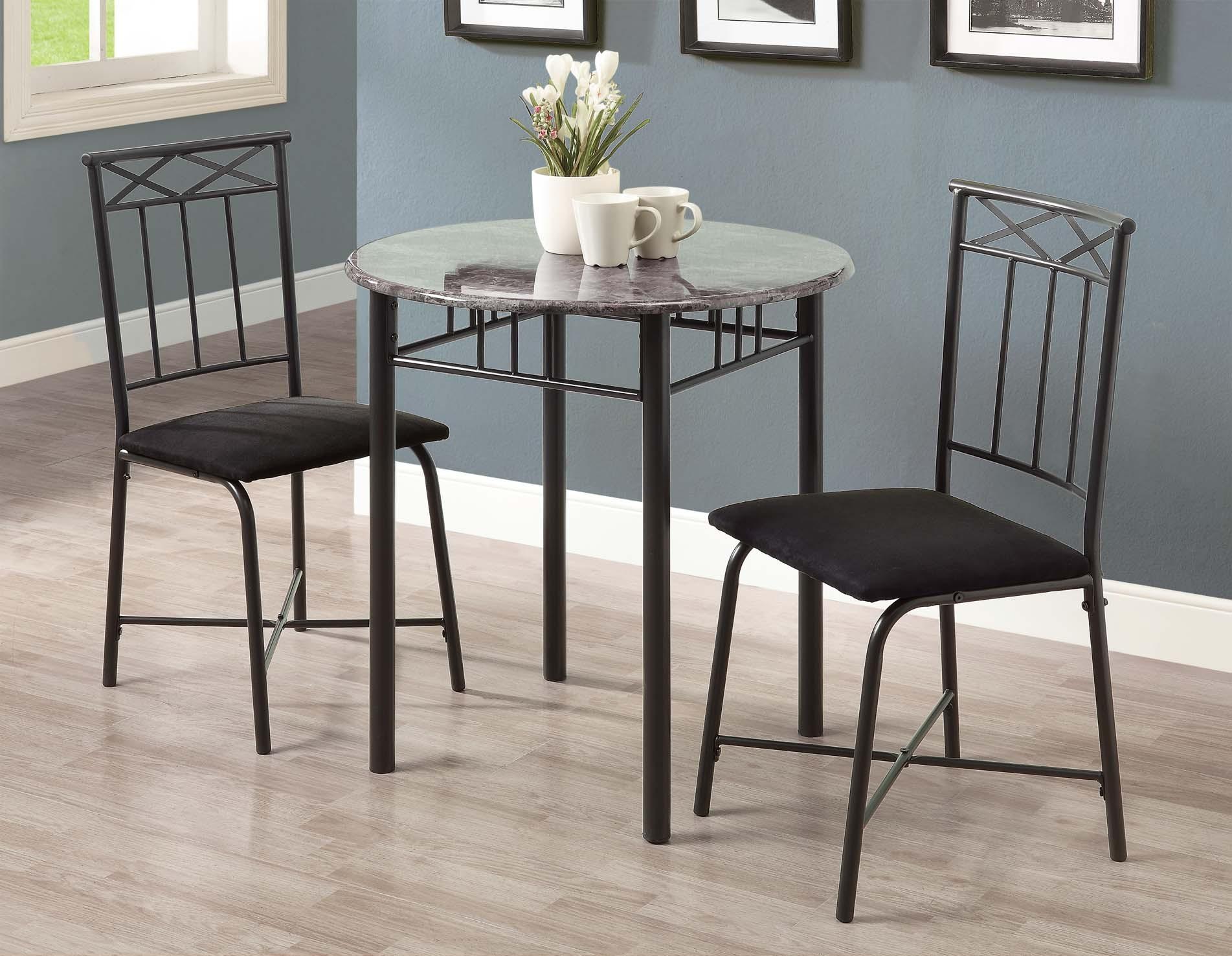 3065 grey marble charcoal metal 3pcs bistro set from monarch i 3065 coleman furniture. Black Bedroom Furniture Sets. Home Design Ideas