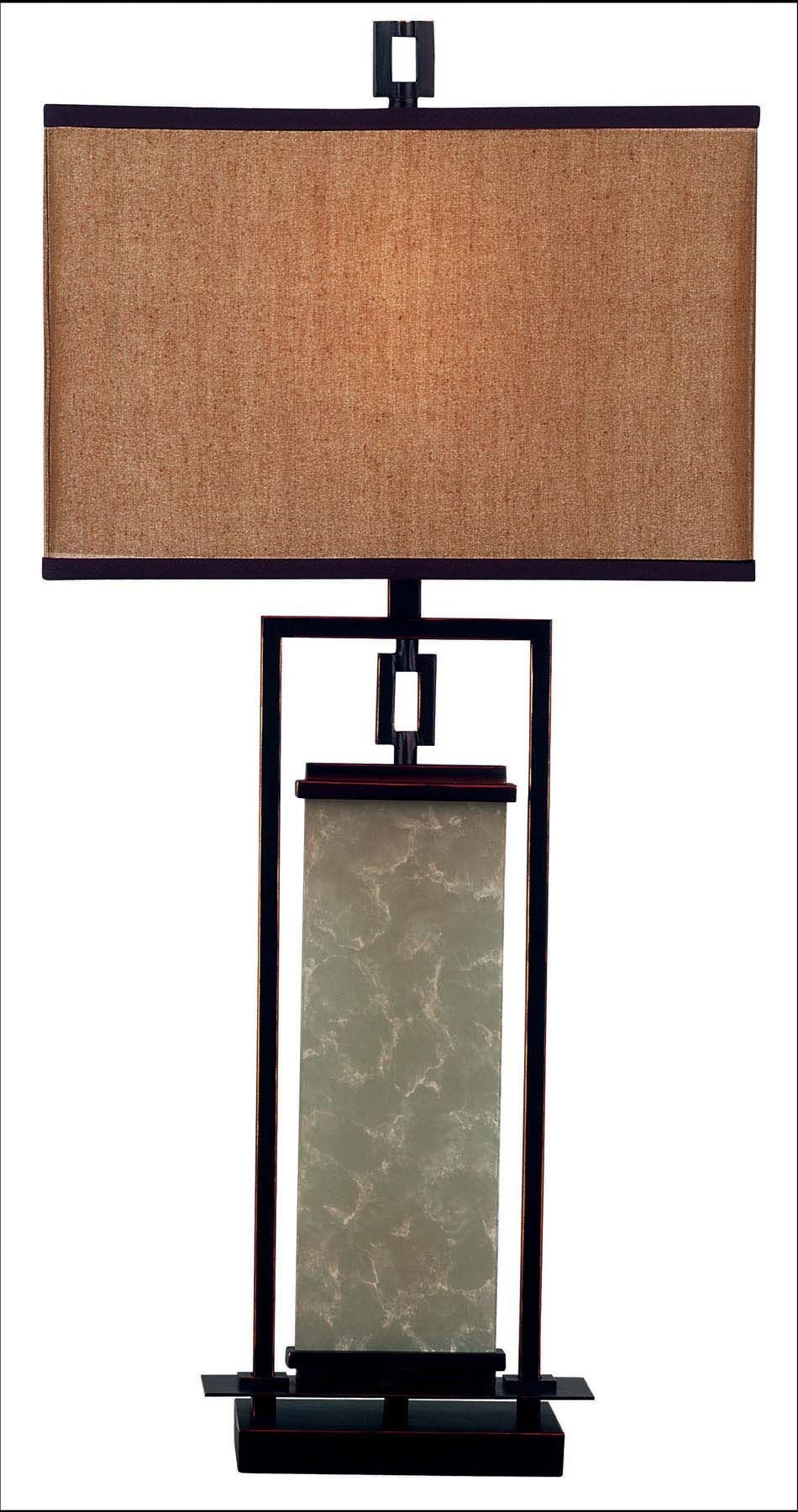 Plateau table lamp from kenroy 30740orb coleman furniture for Plateau table