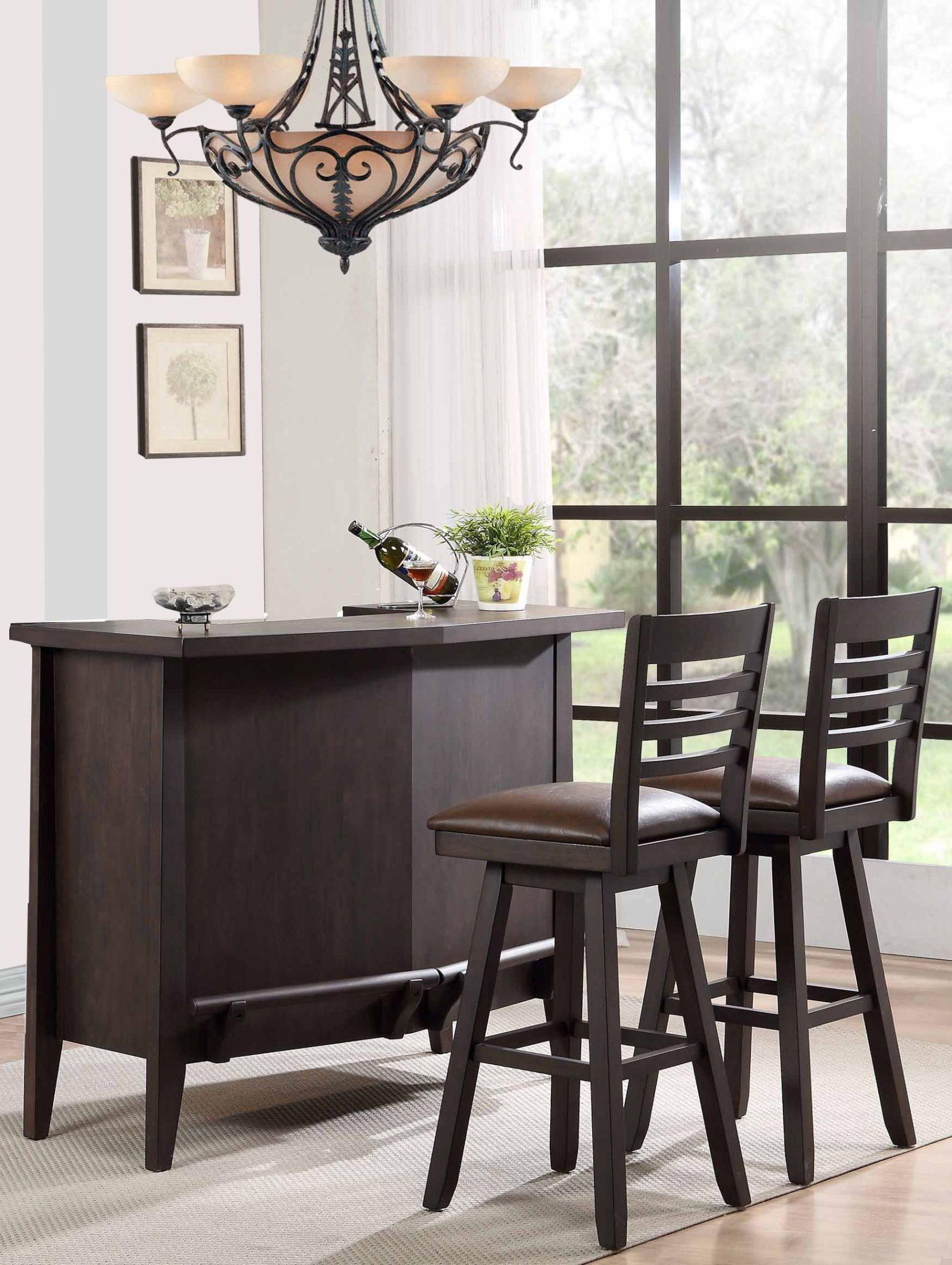 Lexington 52 Quot Black Oak Bar Set From Eci Furniture