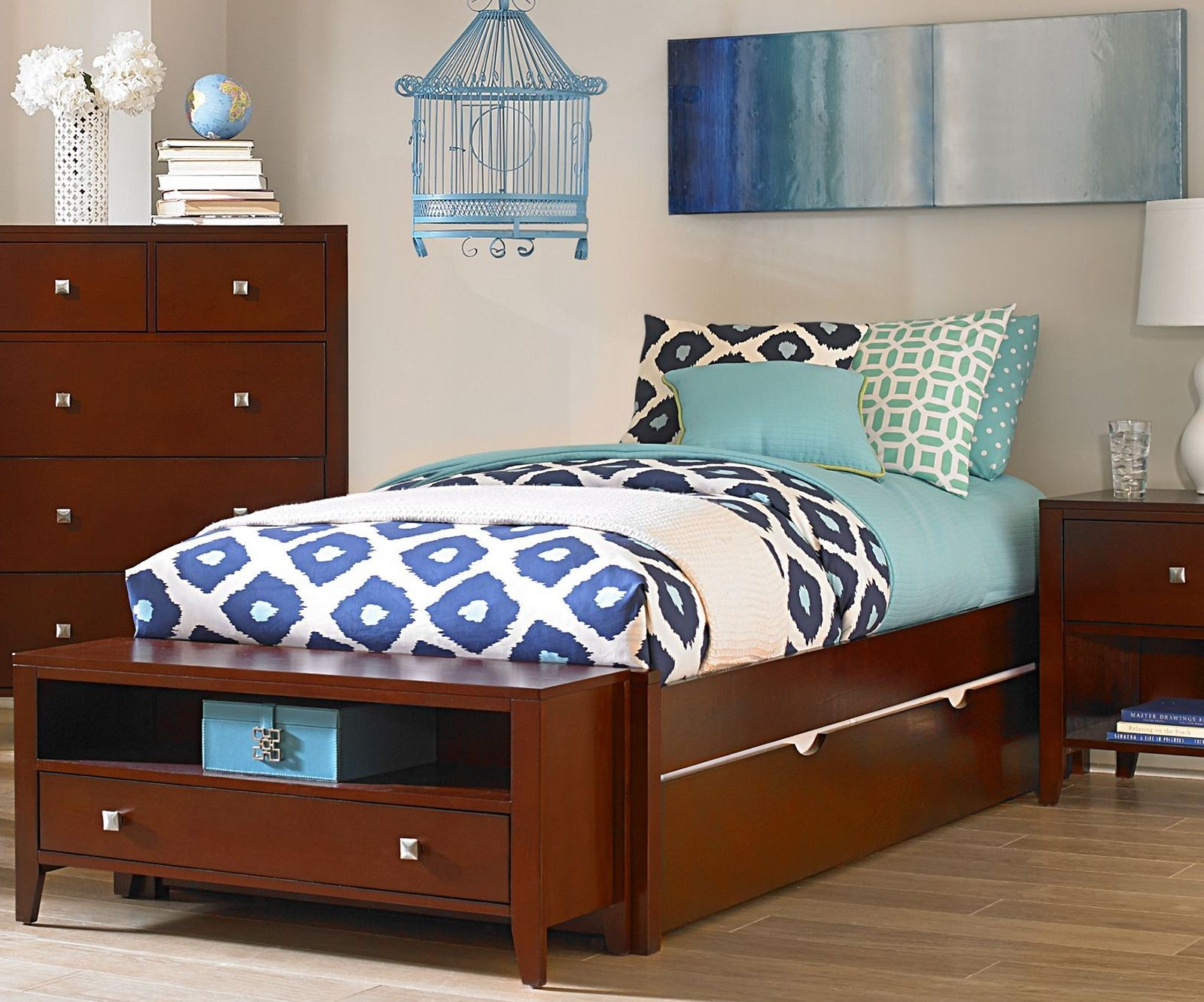 platform bed with trundle pulse cherry platform bed with trundle from ne 16773