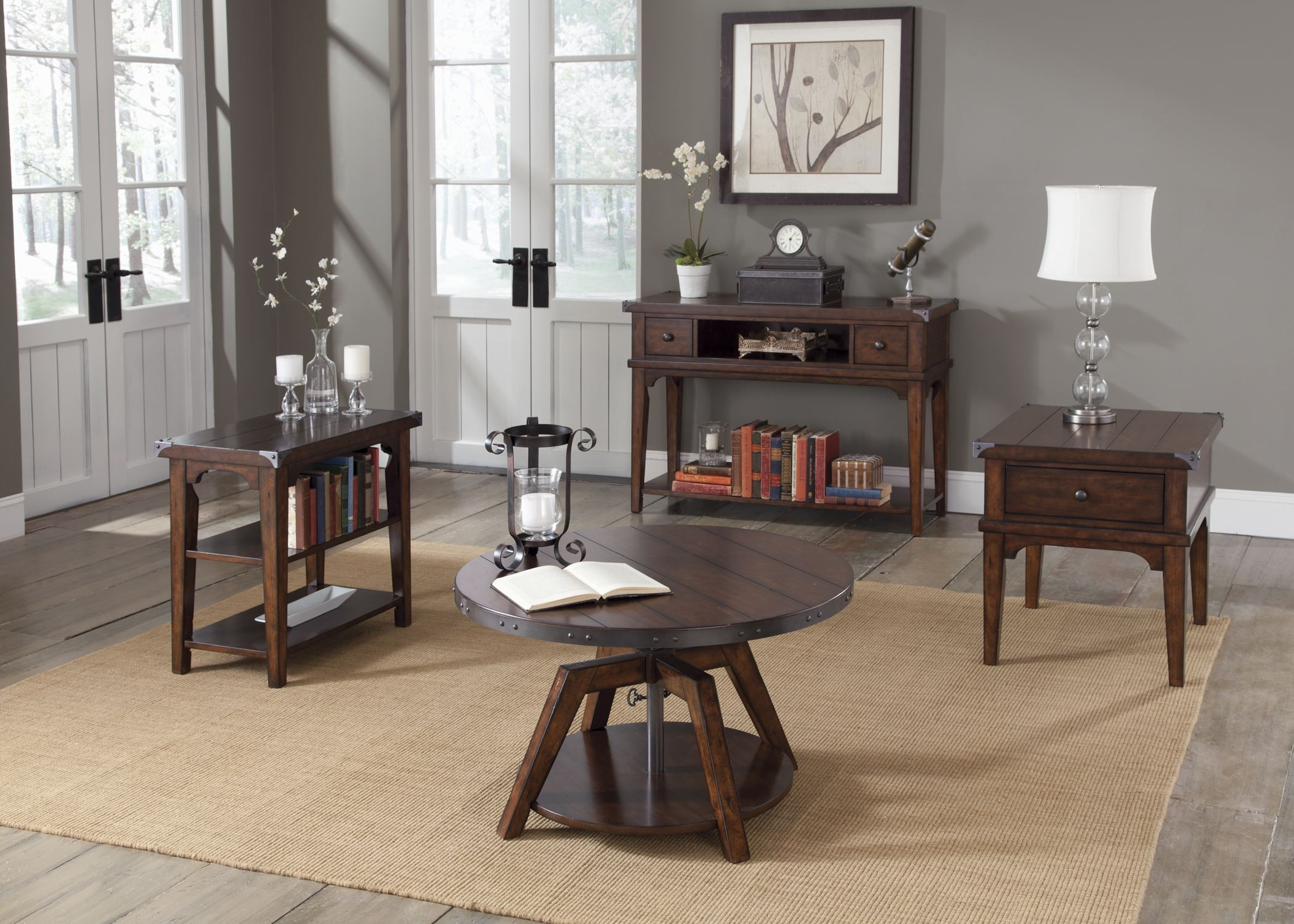 Aspen Skies Chair Side Table From Liberty 316 Ot1021