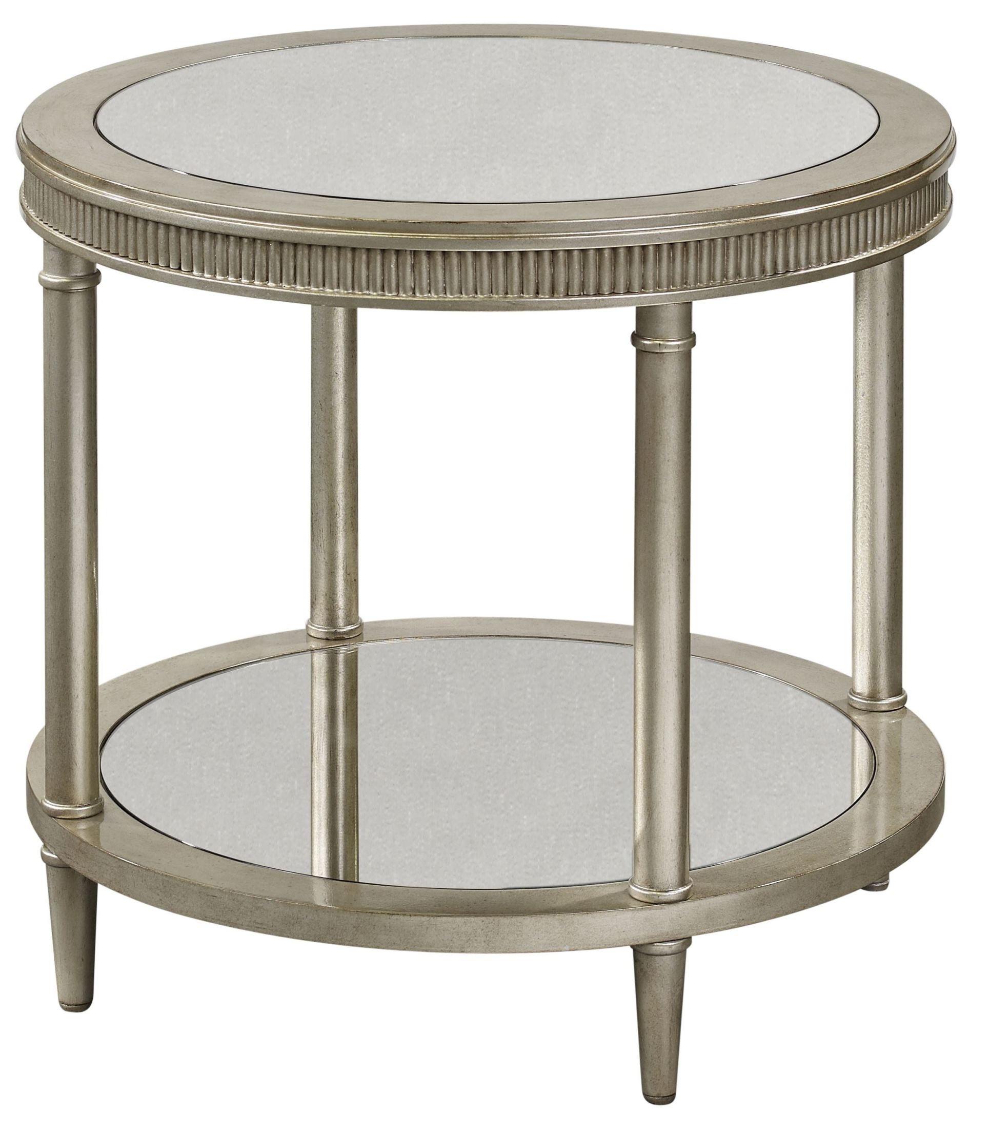 Vanesta Silver Round End Table From Bassett Mirror