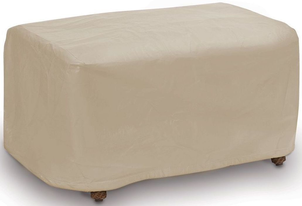 Tan Small Ottoman Cover From Pci Outdoor Covers Coleman