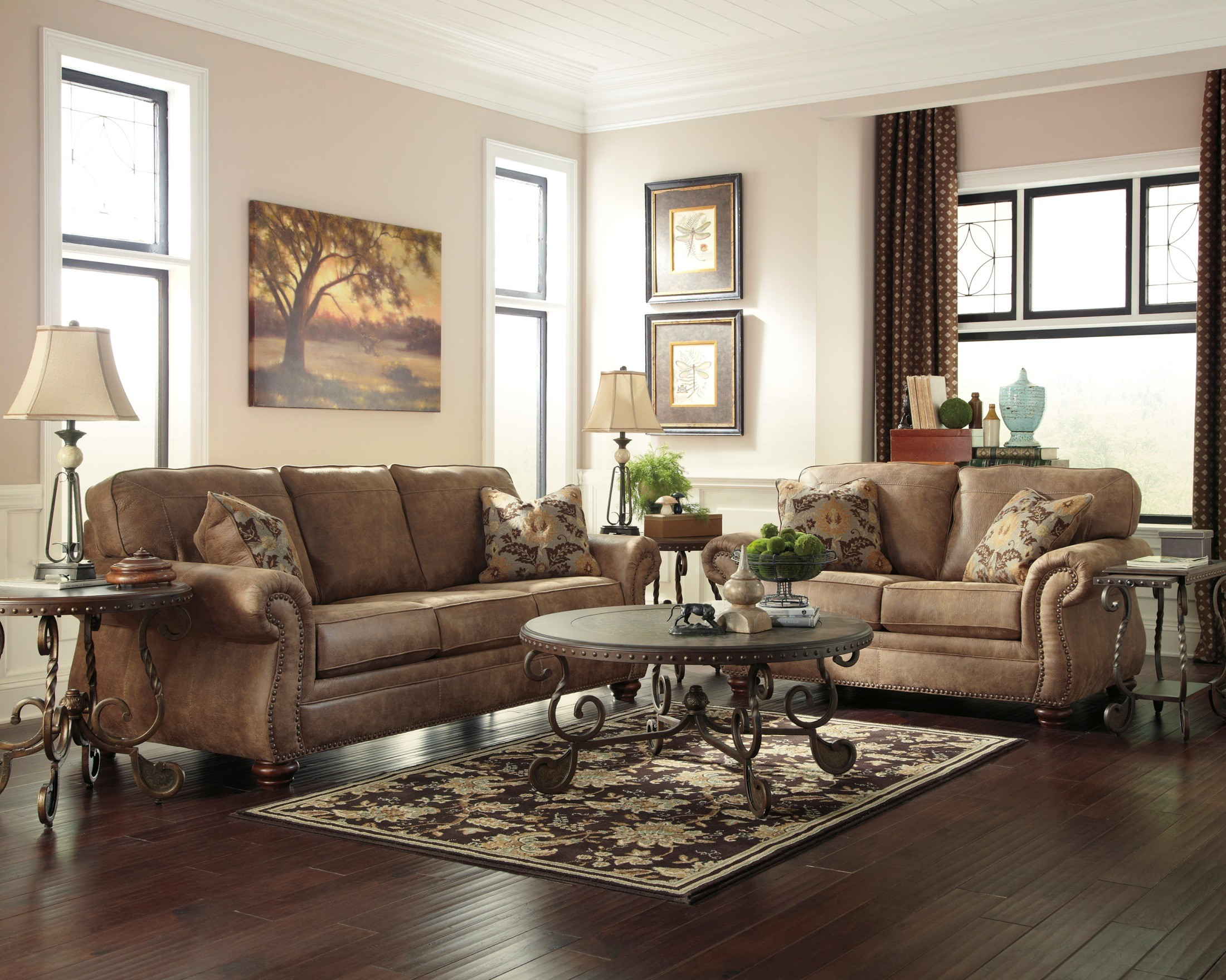 Living Room Furniture: Larkinhurst Earth Living Room Set From Ashley (31901-38-35