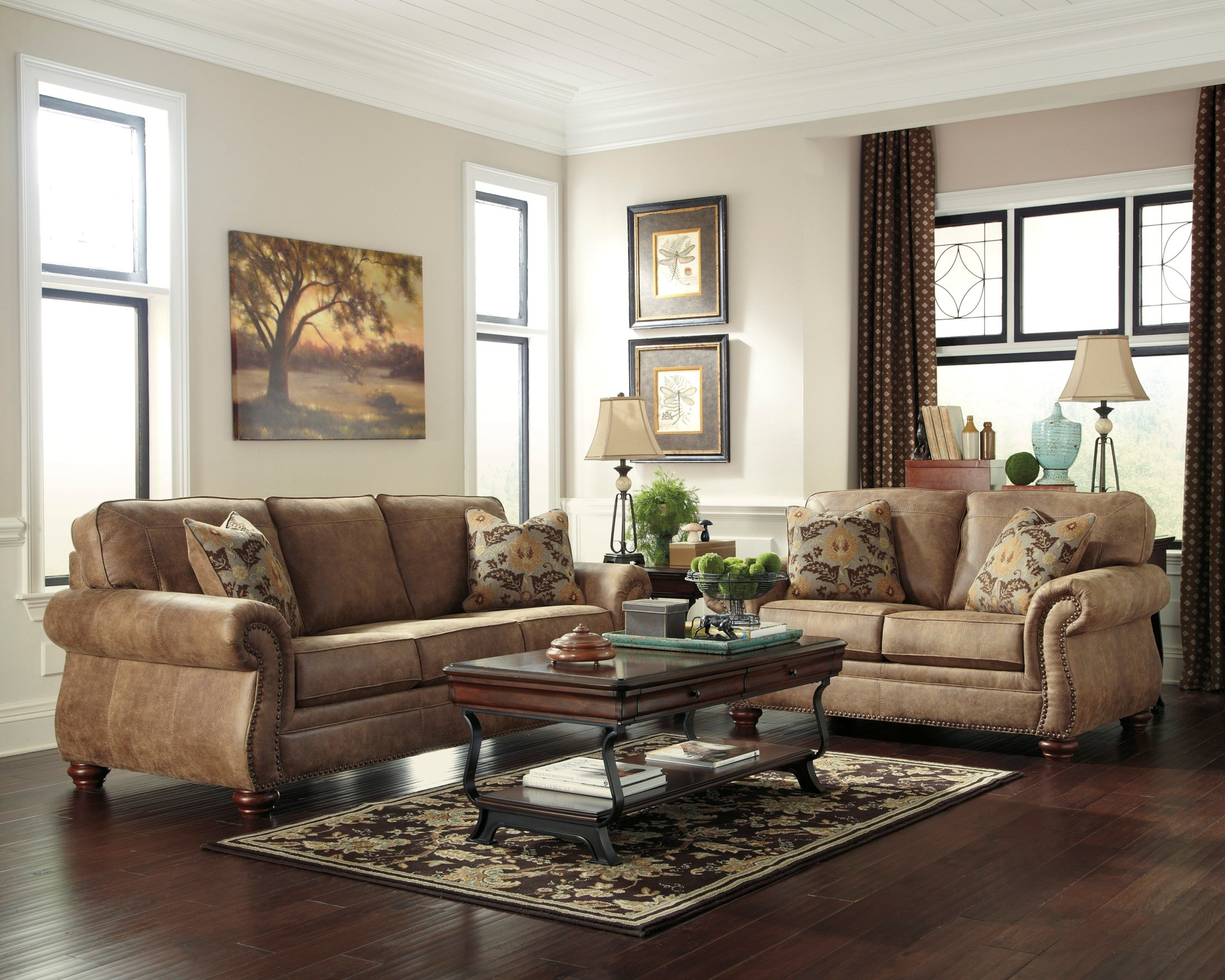 furniture for livingroom larkinhurst earth living room set from ashley 31901 38 35 coleman furniture 9395