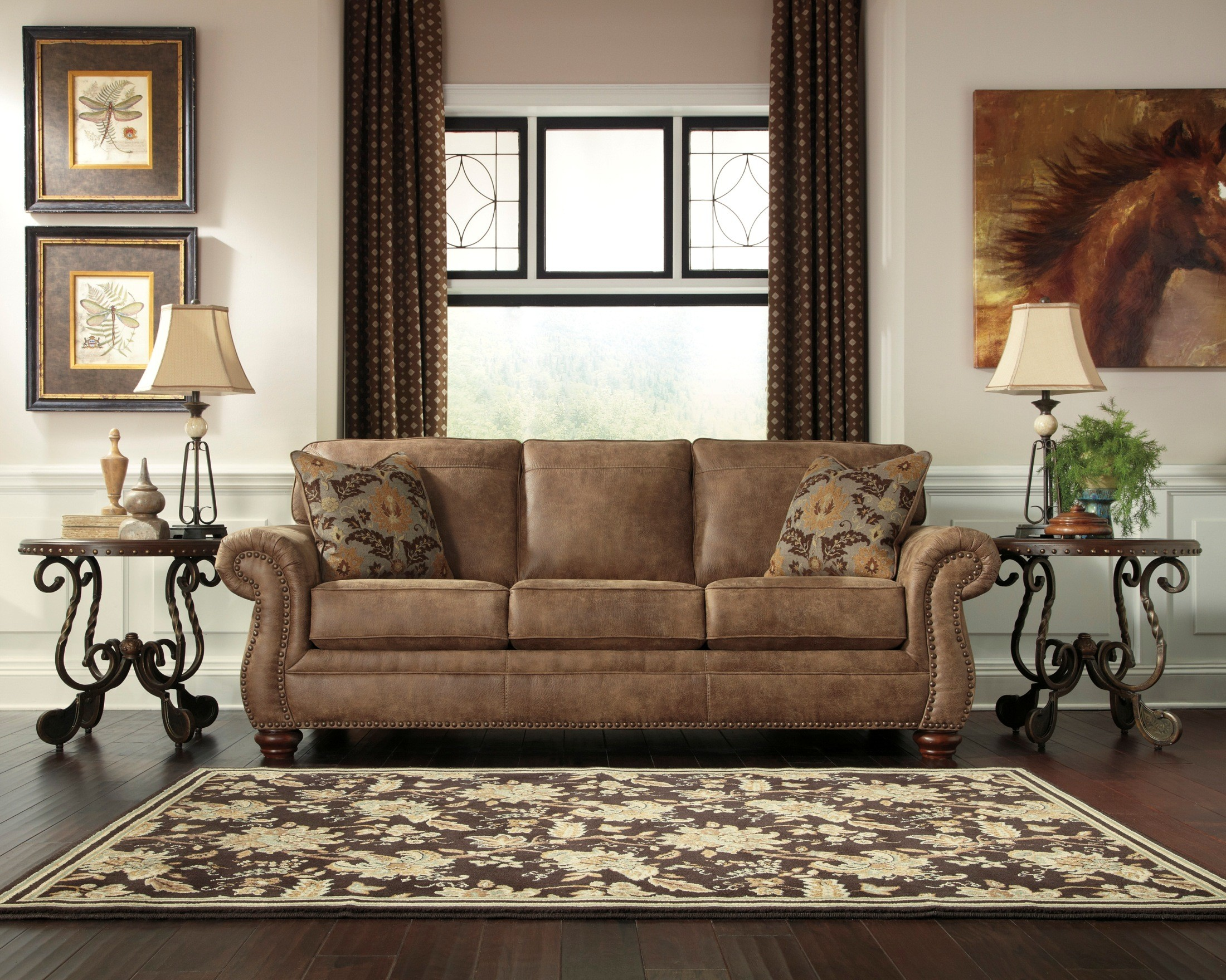 ashley living room sofas larkinhurst earth living room set from 31901 38 35 16279