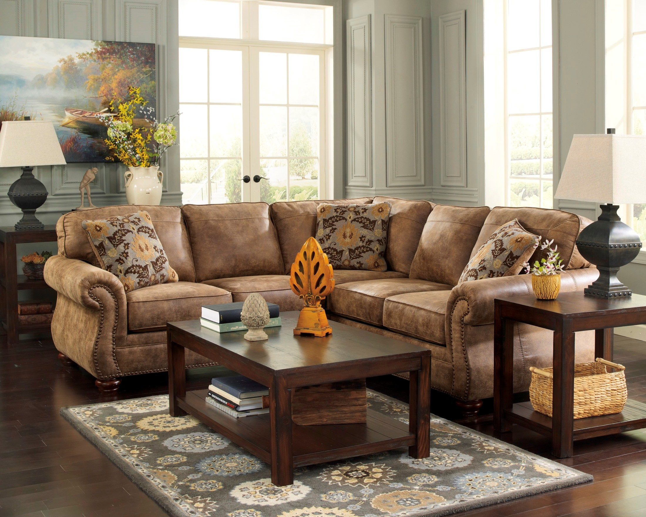 Chenille Sofa With Chaise hmmi