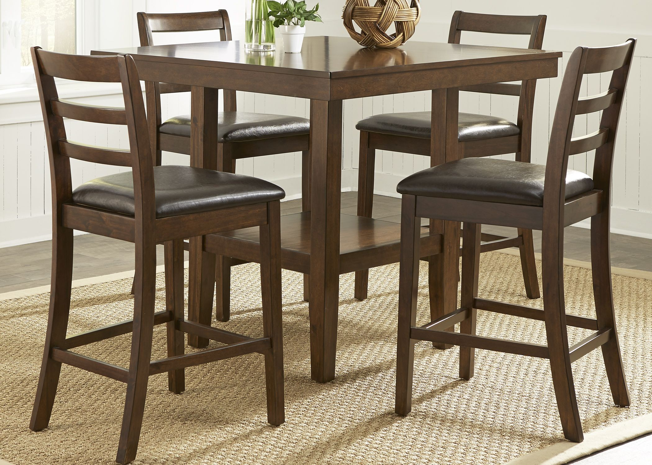Bradshaw Russet 5 Piece Gathering Dining Room Set From Liberty