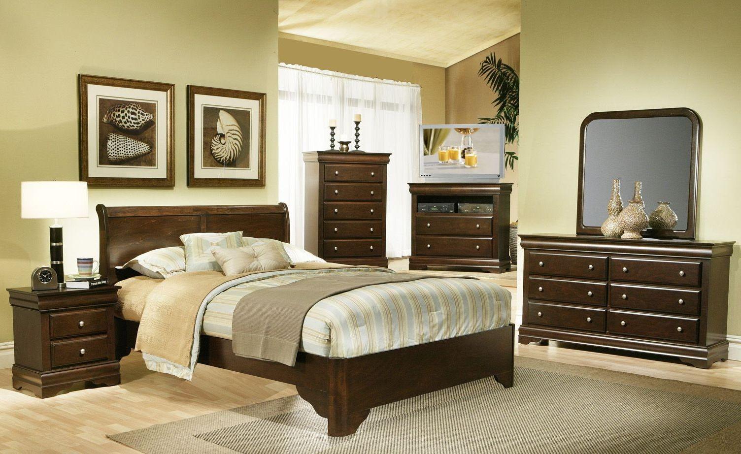 Chesapeake Cappuccino Sleigh Bedroom Set From Alpine Coleman Furniture