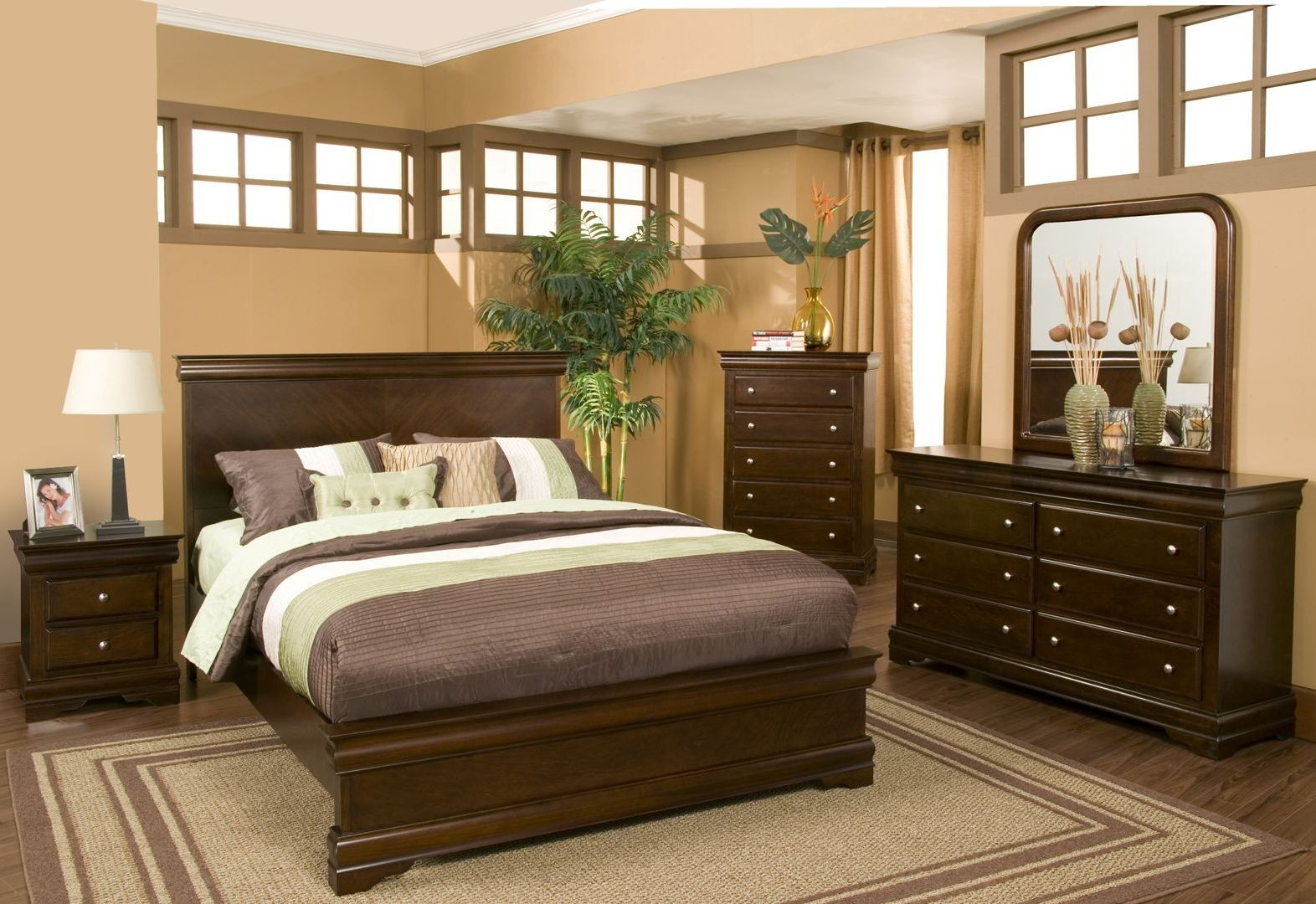 Chesapeake Cappuccino Youth Panel Bedroom Set From Alpine Coleman Furniture