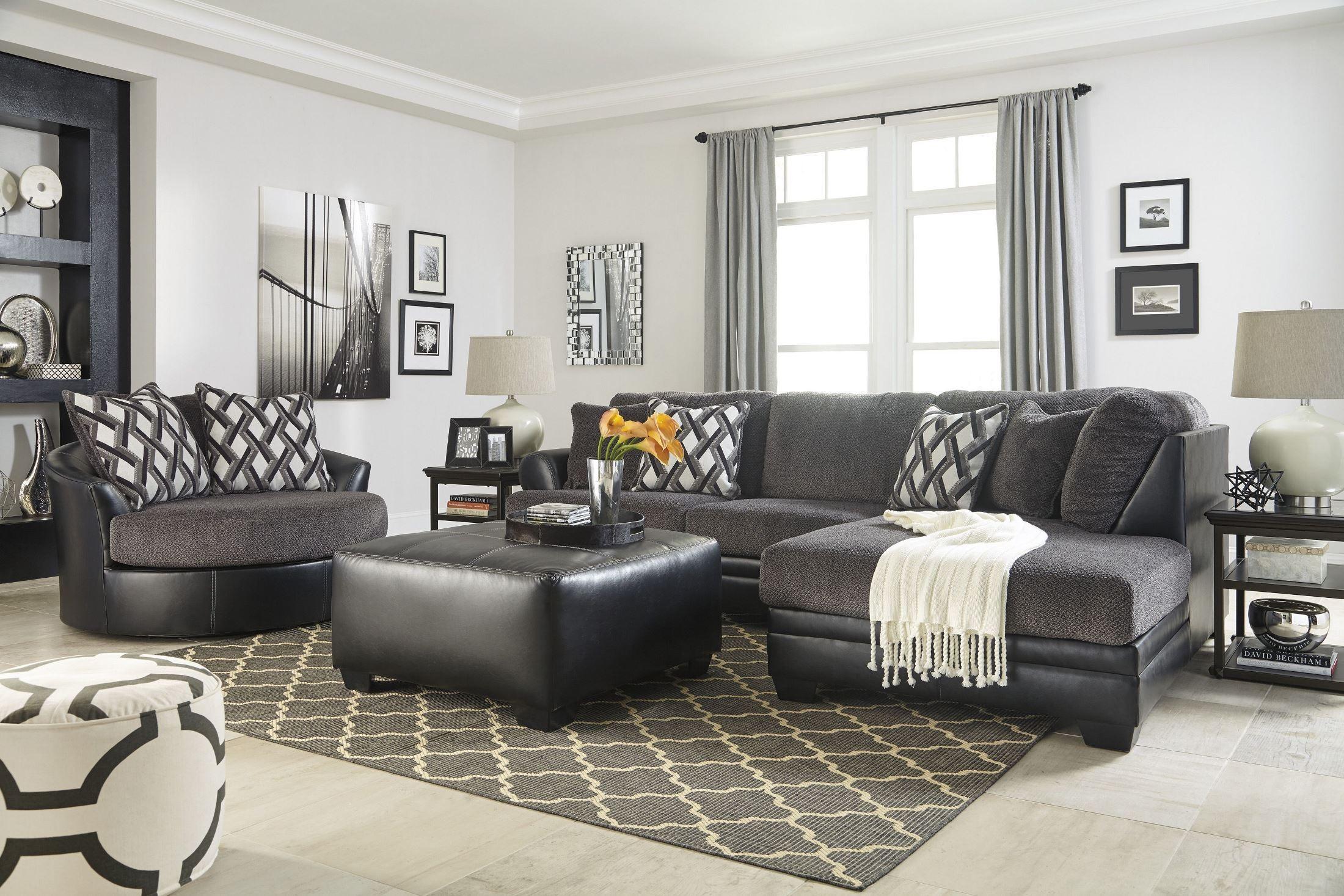 Kumasi Smoke Raf Sectional From Ashley Coleman Furniture