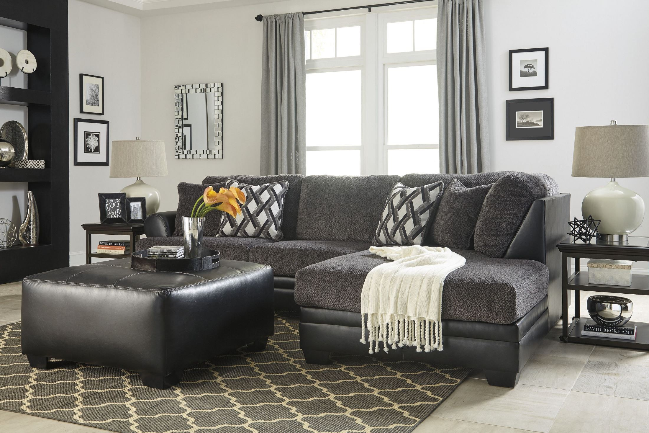 Kumasi Smoke Raf Sectional From Ashley Coleman Furniture