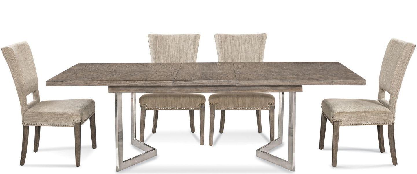 Glam Rustic Grey Soraya Dining Room Set From Bassett Mirror