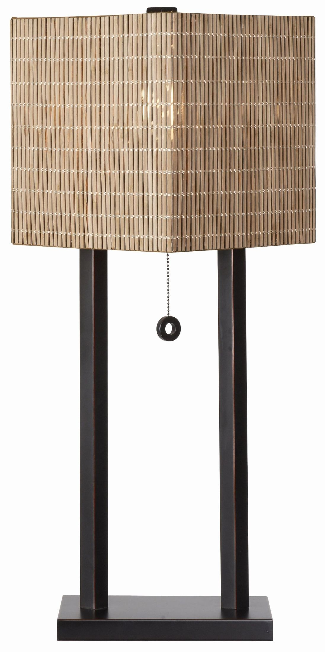 Offset oil rubbed bronze table lamp from kenroy coleman for Off set floor lamp
