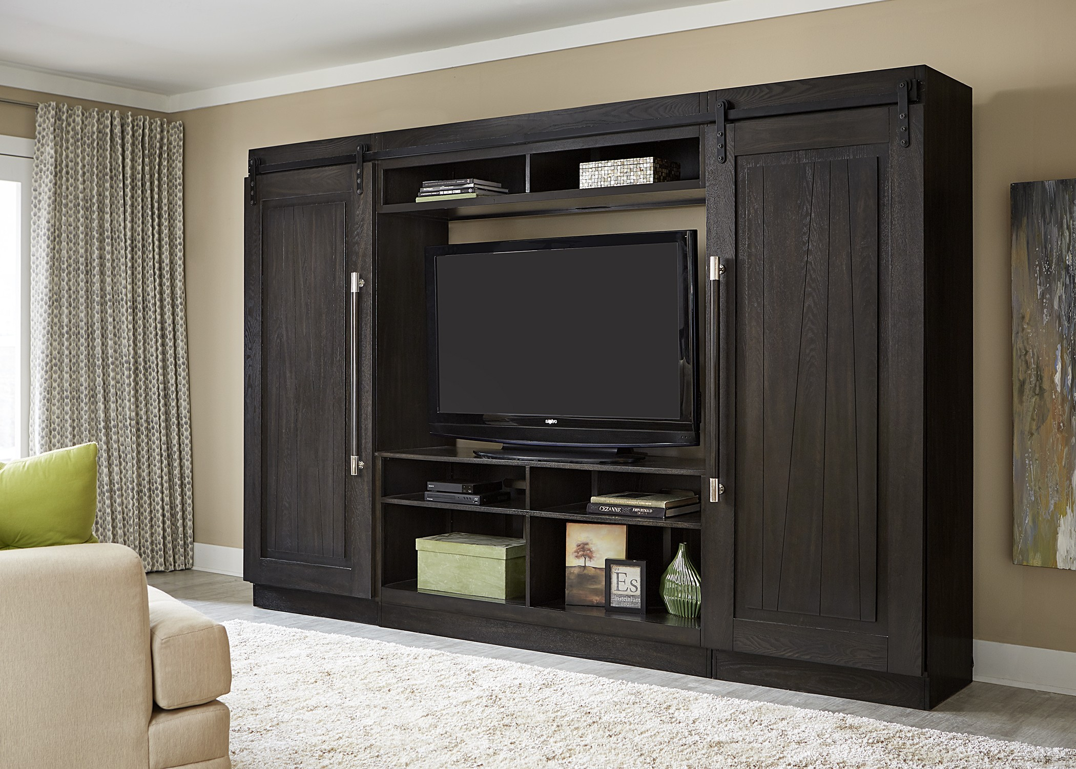 Abbey Charcoal Large Entertainment Center From Liberty