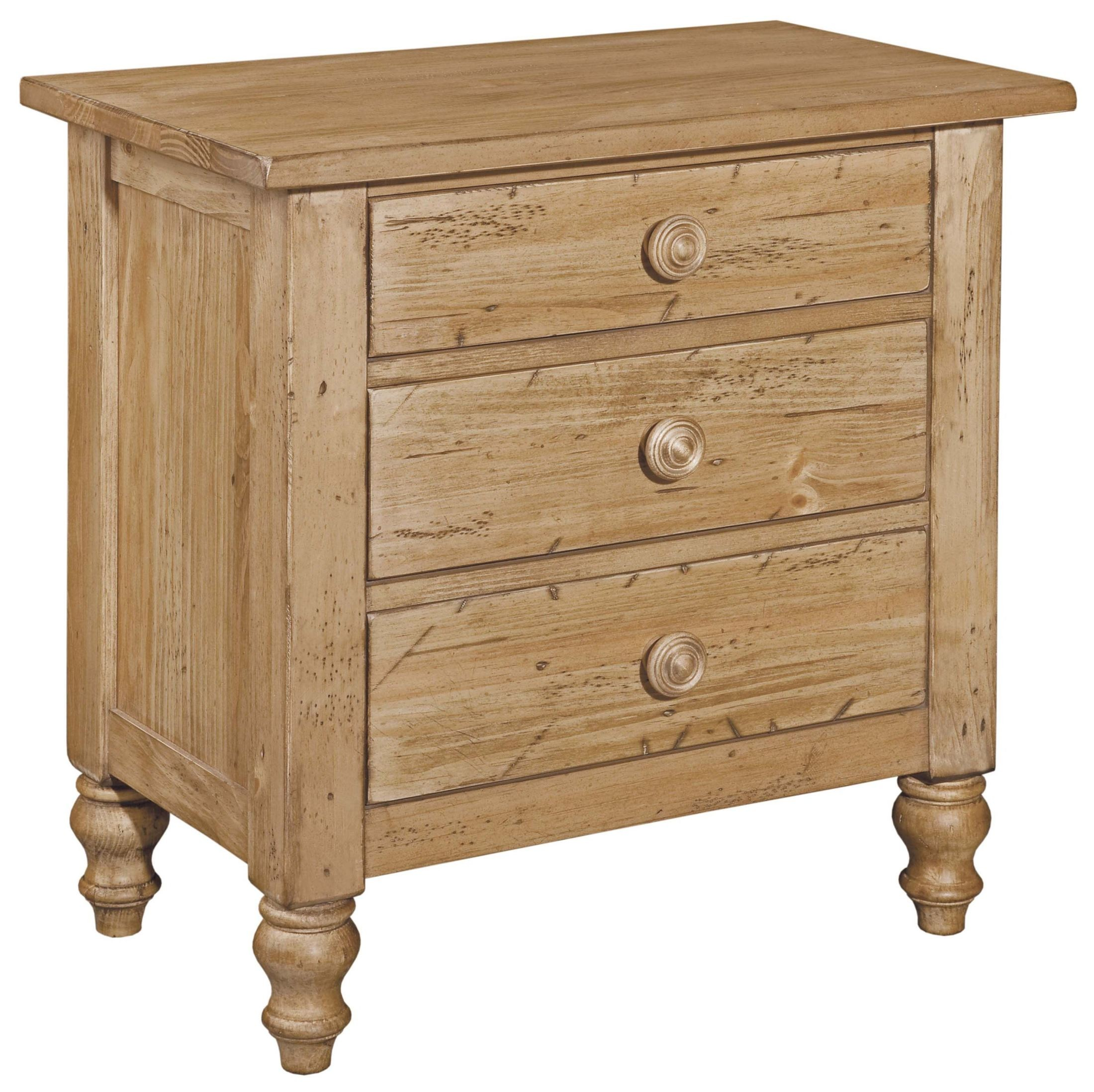 Homecoming Vintage Pine 4 Drawer Nightstand From Kincaid