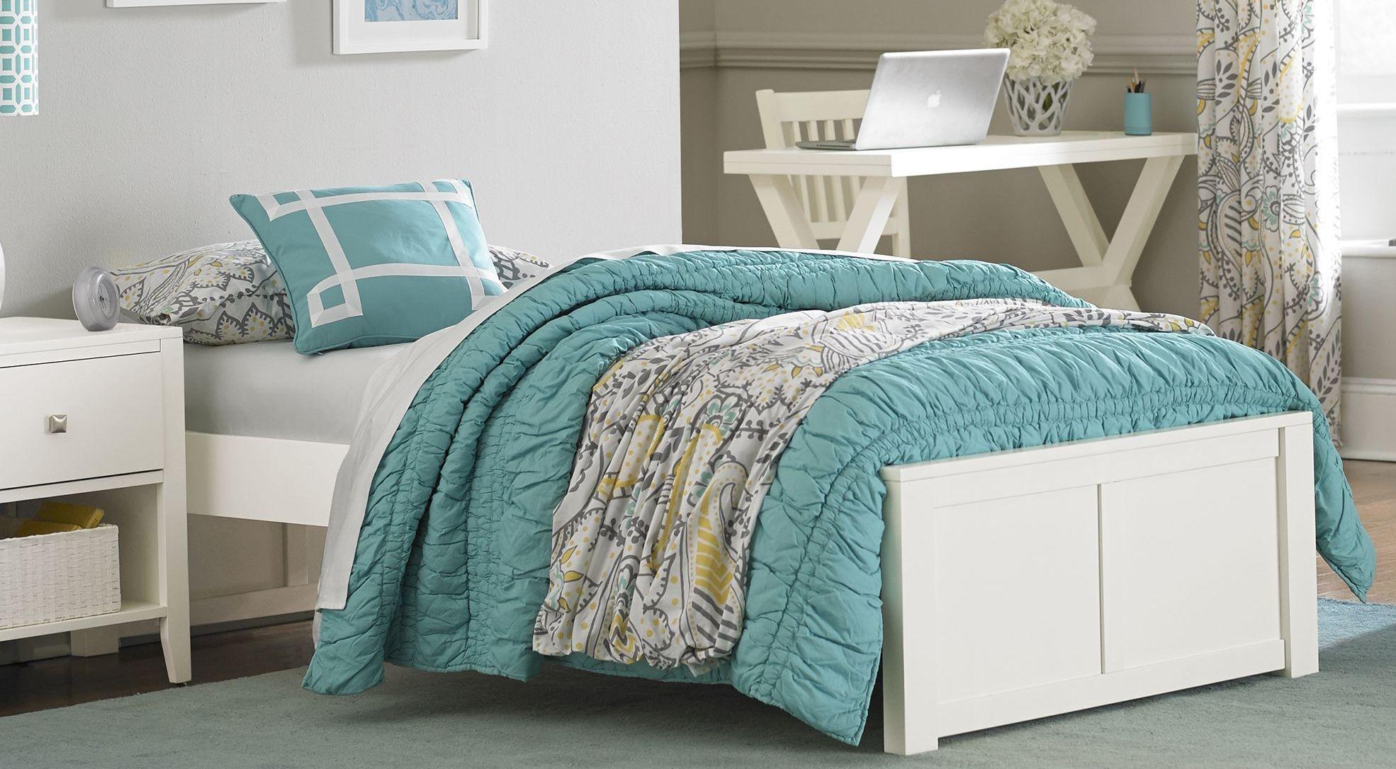 Pulse White Twin Platform Bed from NE Kids | Coleman Furniture