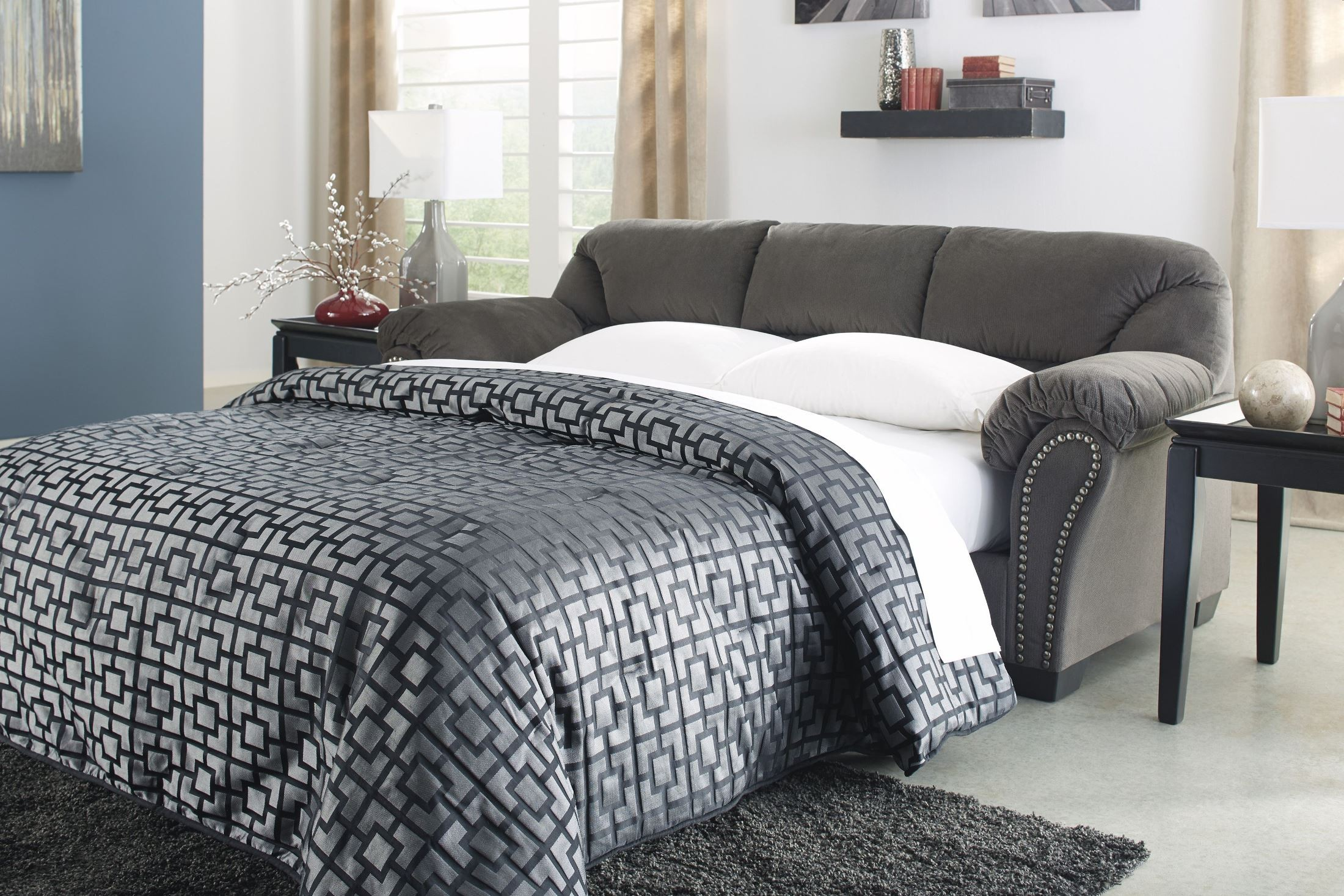 Kinlock Charcoal Full Sofa Sleeper From Ashley 3340036