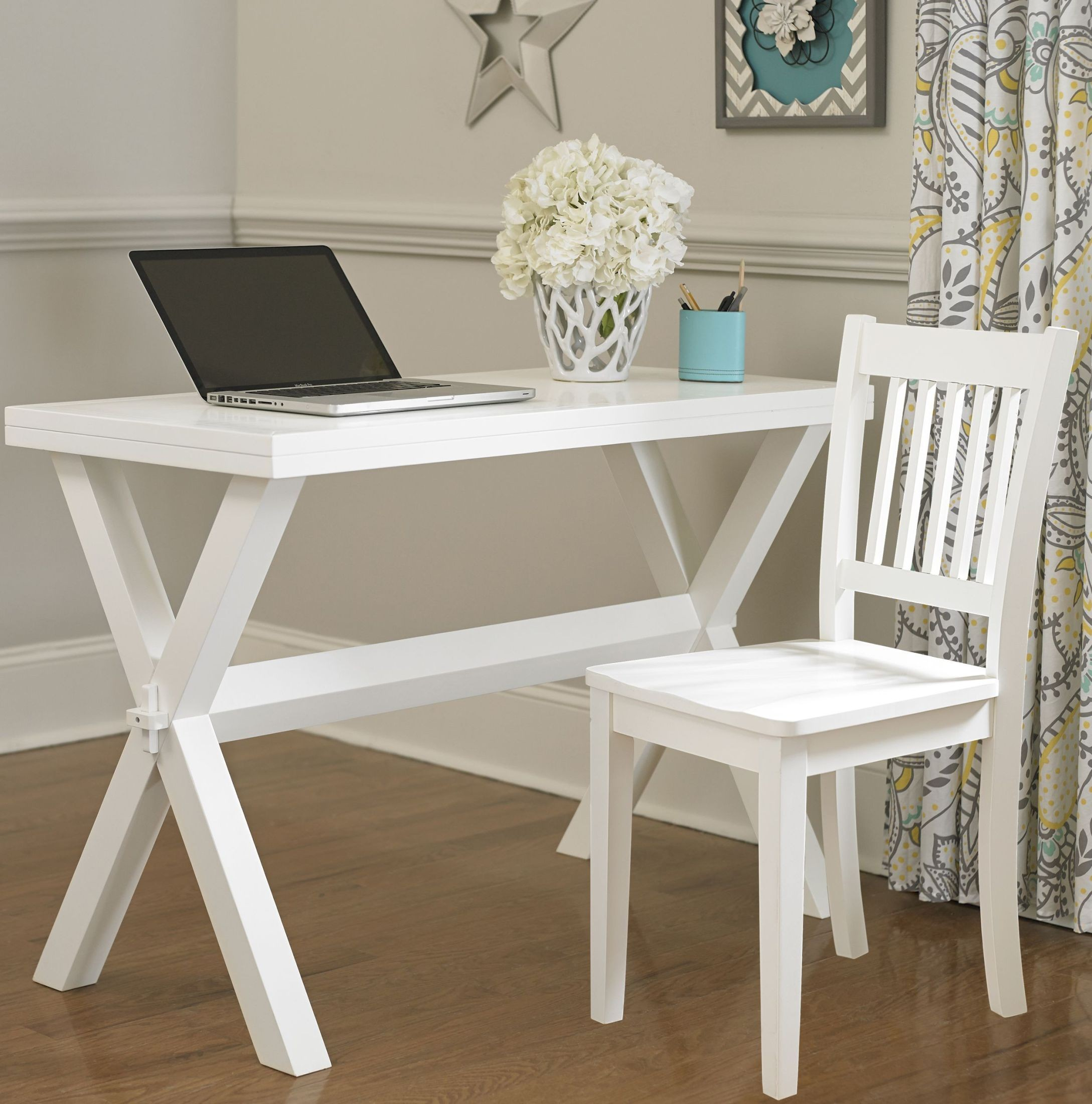 Pulse white desk and chair from ne kids coleman furniture for White childrens chair