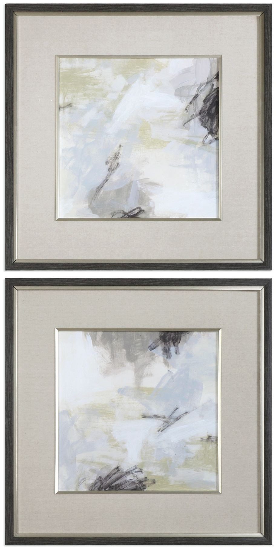 Abstract Vistas Silver Framed Prints Set Of 2 From