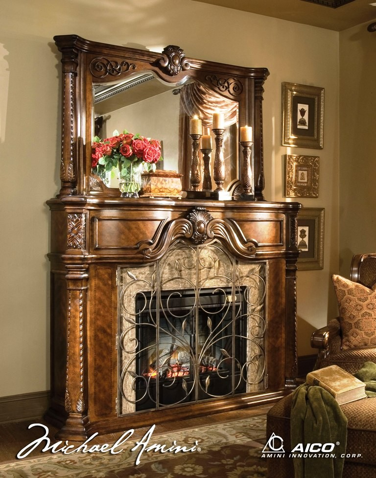 Windsor Court Fireplace Mirror From Aico 70227 54
