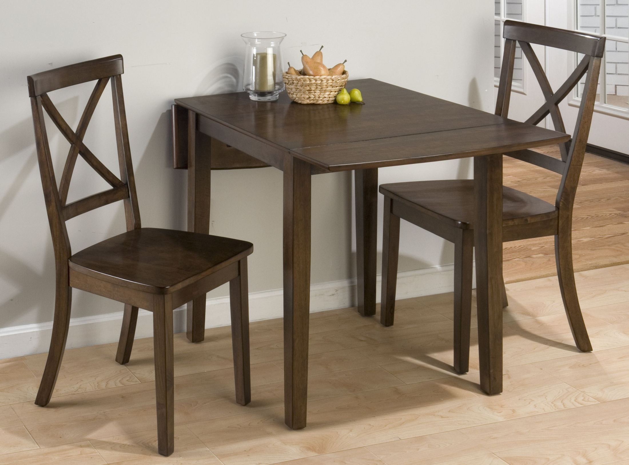 Taylor cherry extendable drop leaf dining room set from for Dining room tables drop leaf