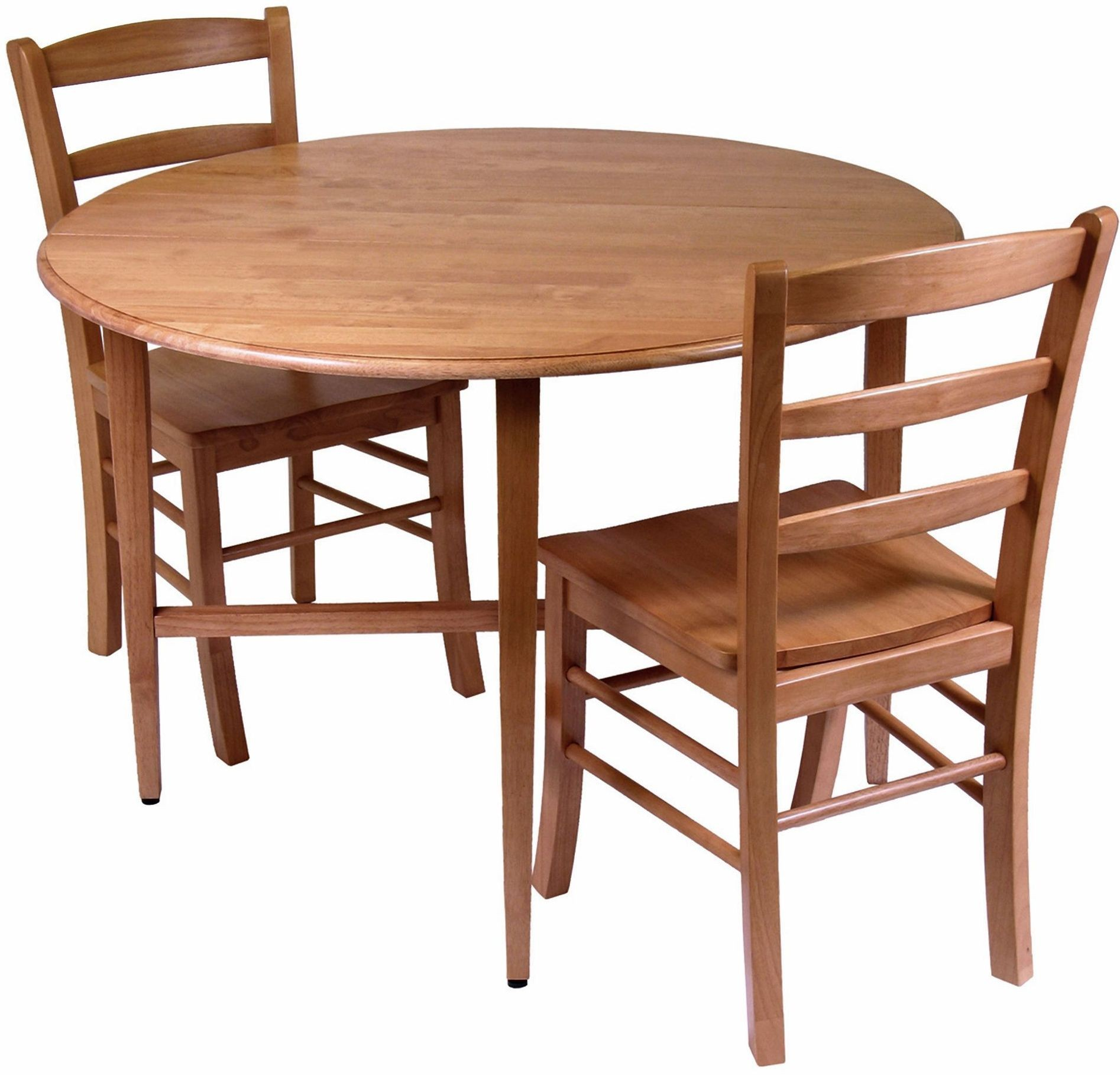 Hannah round 42 double drop leaf gate leg dining room set for Round dining room sets with leaf