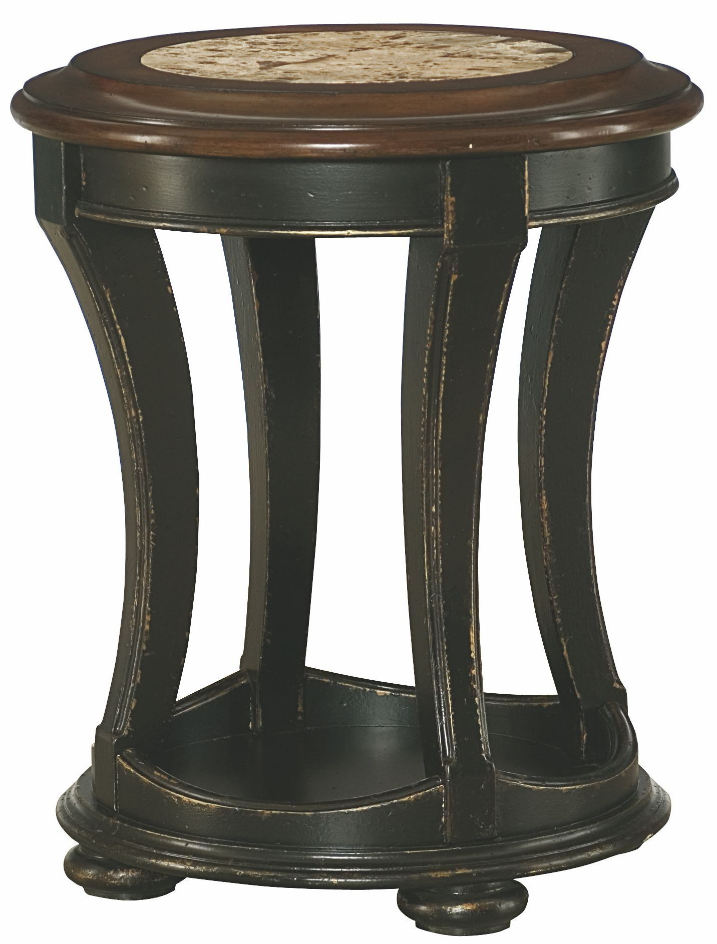 Dorset black round end table from hammary 347 916 for Black round end table