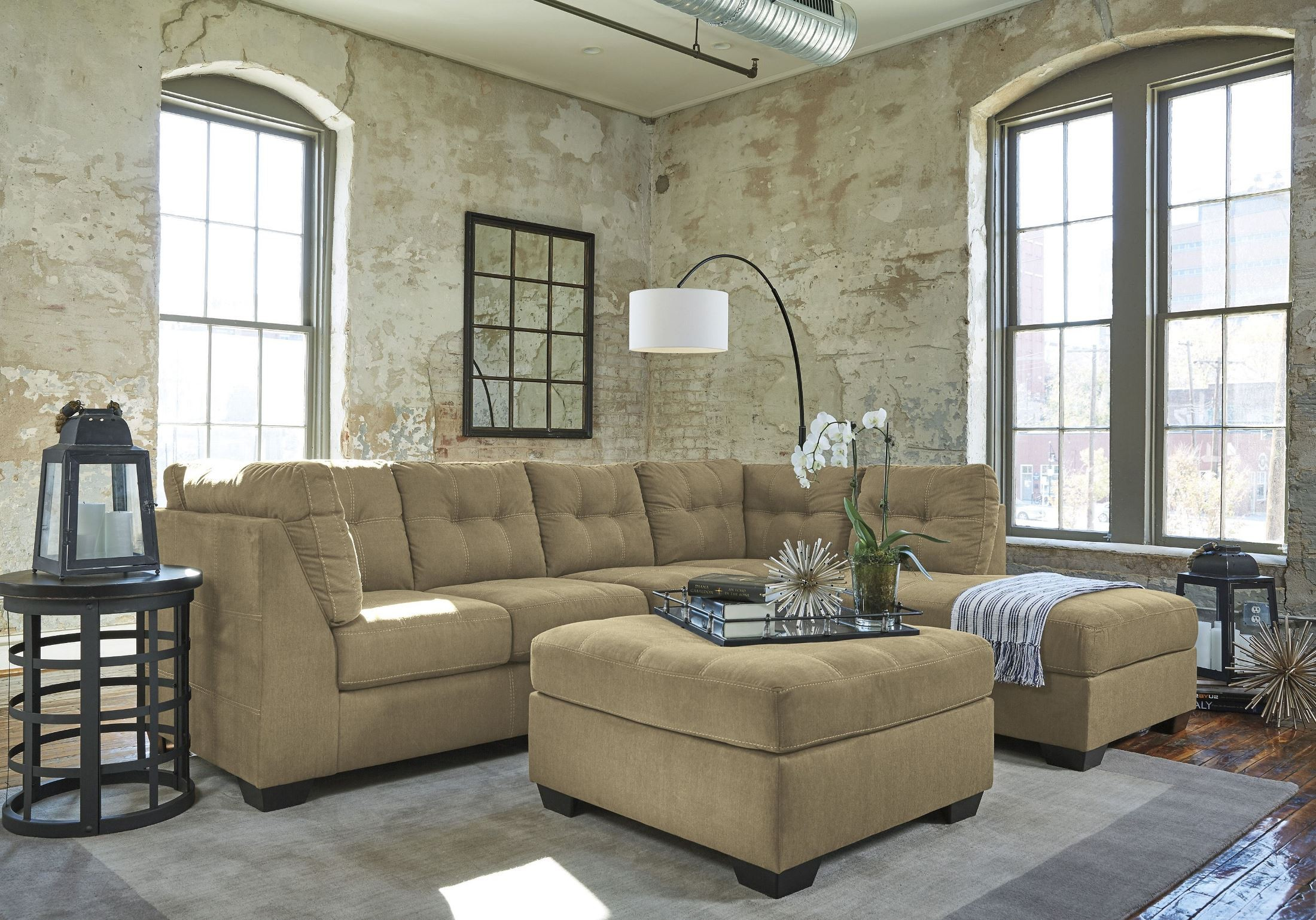 Pitkin Mocha Oversized Accent Ottoman From Ashley