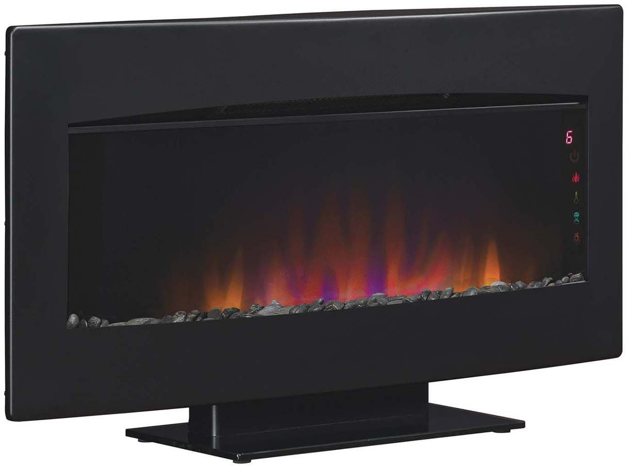 Classicflame Textured Black Frame Serendipity 34 Wall Mounted Electric Fireplace From Twin Star