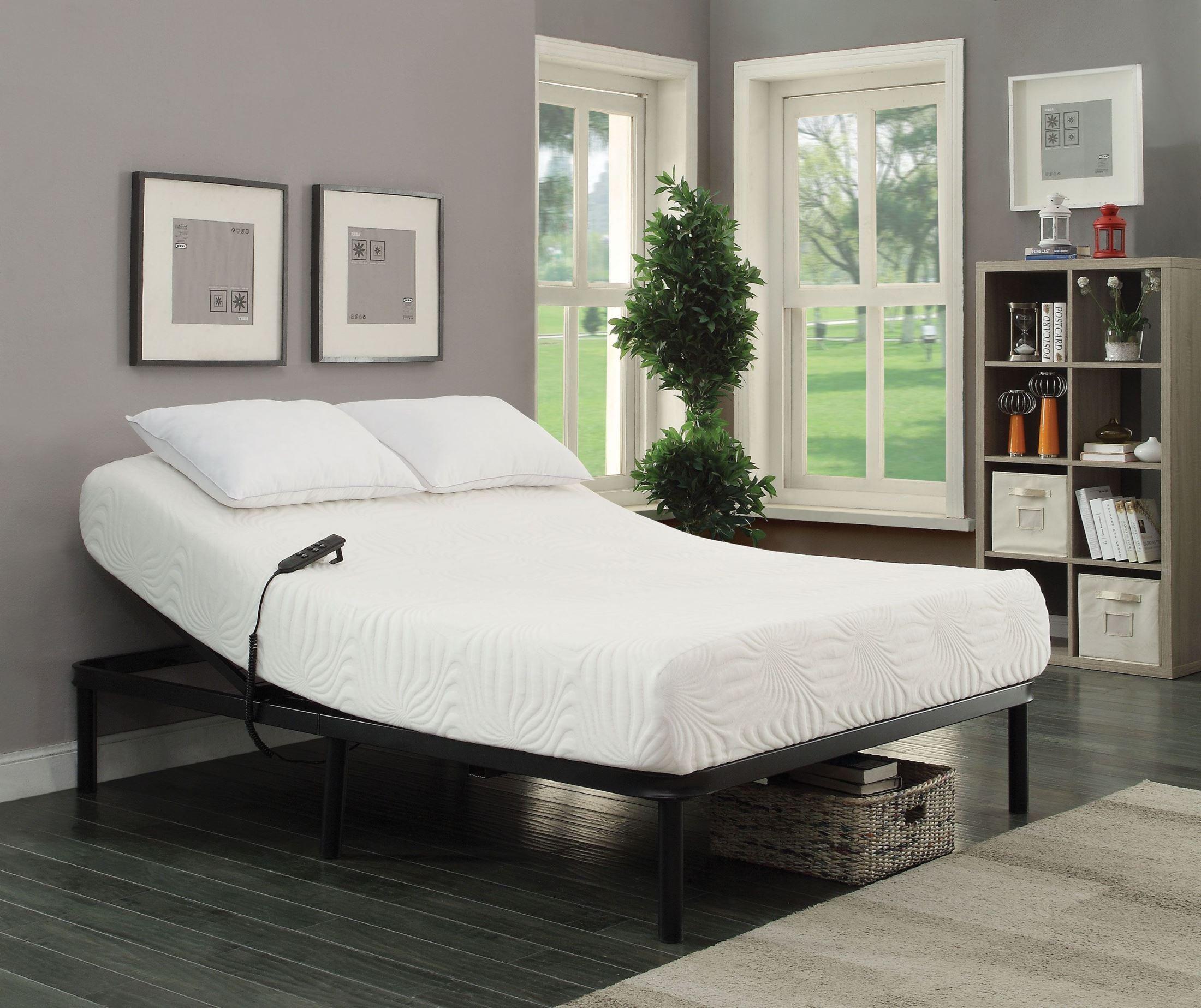 Stanhope Black Adjustable Bed Base from Coaster | Coleman ...