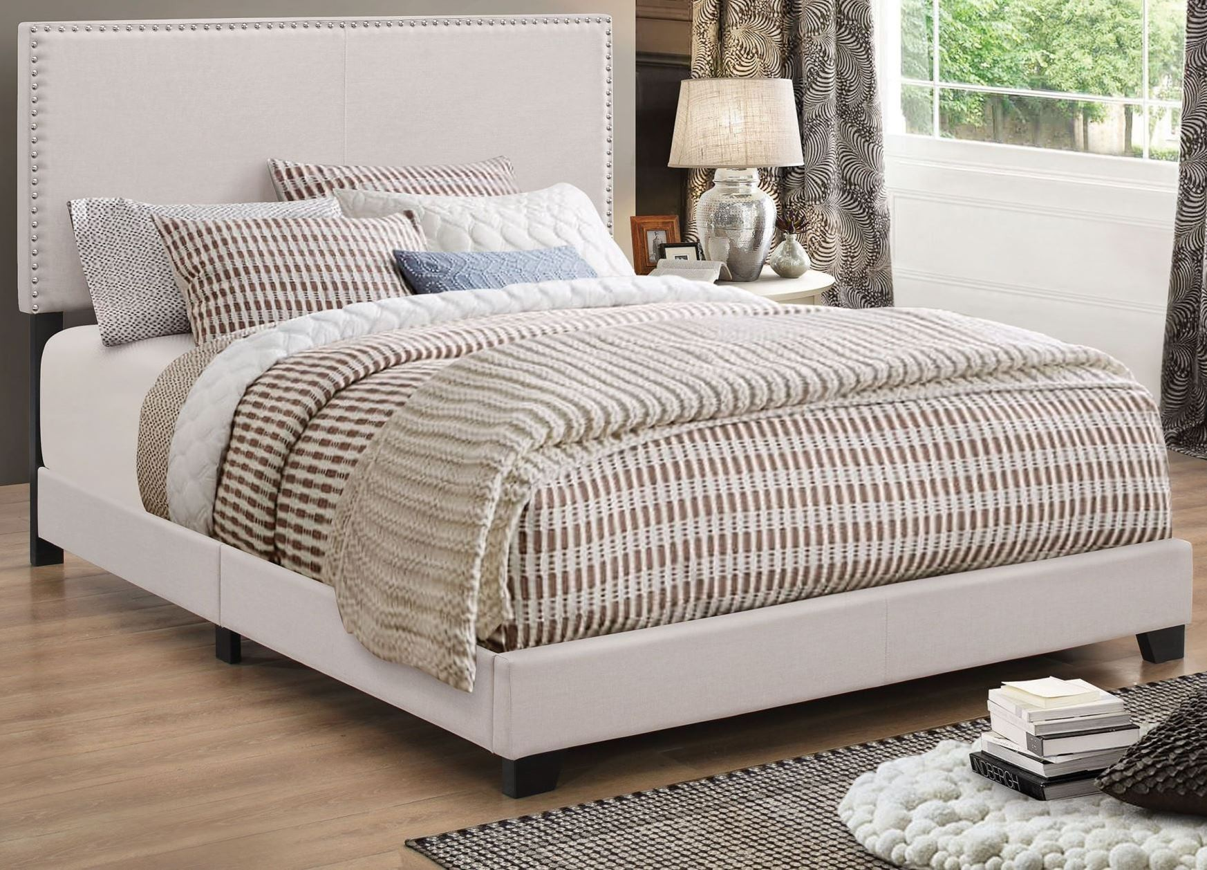Boyd Ivory Full Platform Bed from Coaster : Coleman Furniture