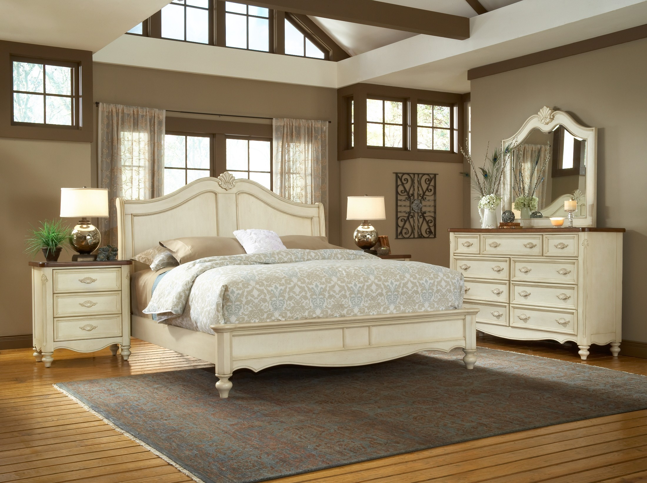 chateau sleigh bedroom set from american woodcrafters (3501-50sle